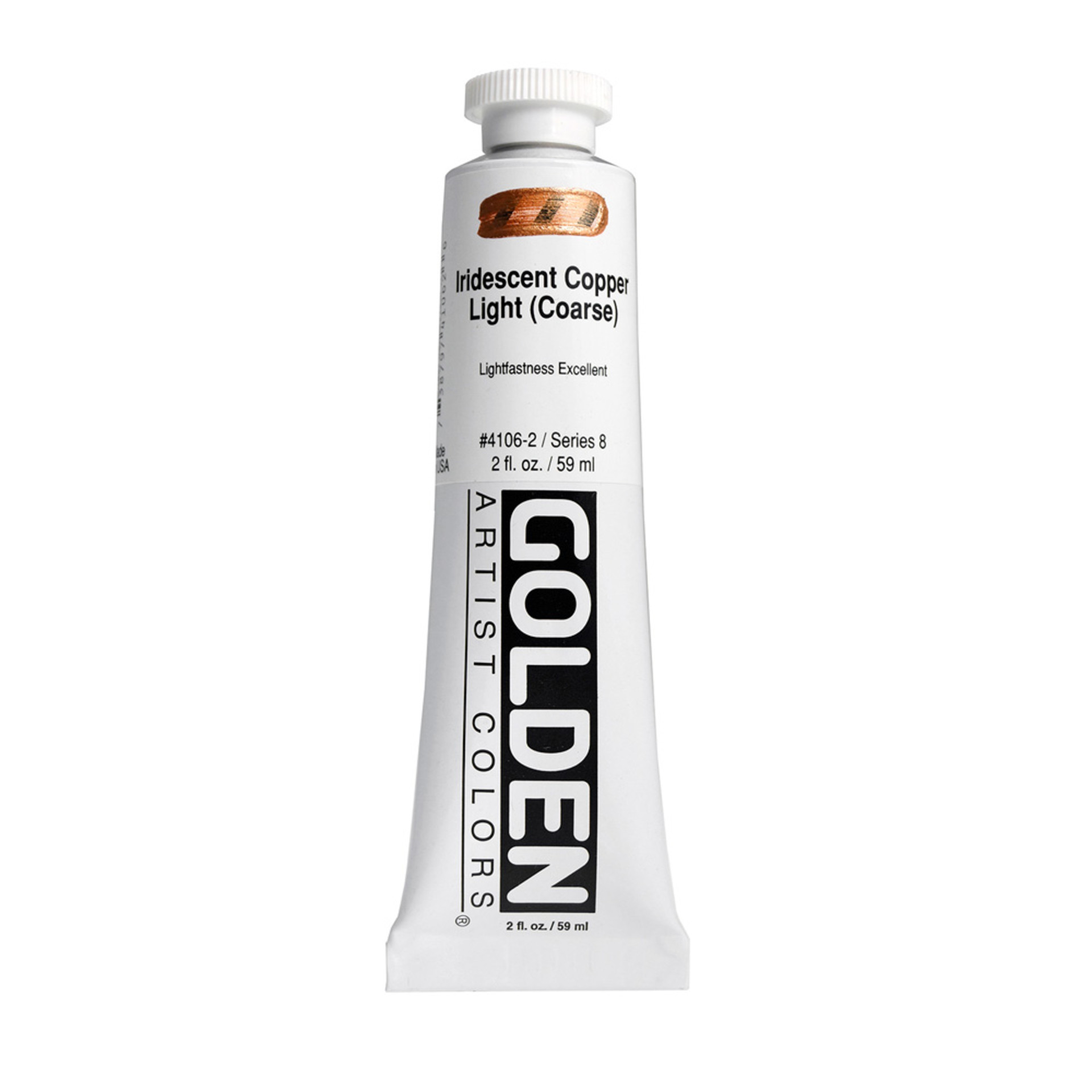 Golden Heavy Body Acrylic Tube 2oz Iridescent Copper