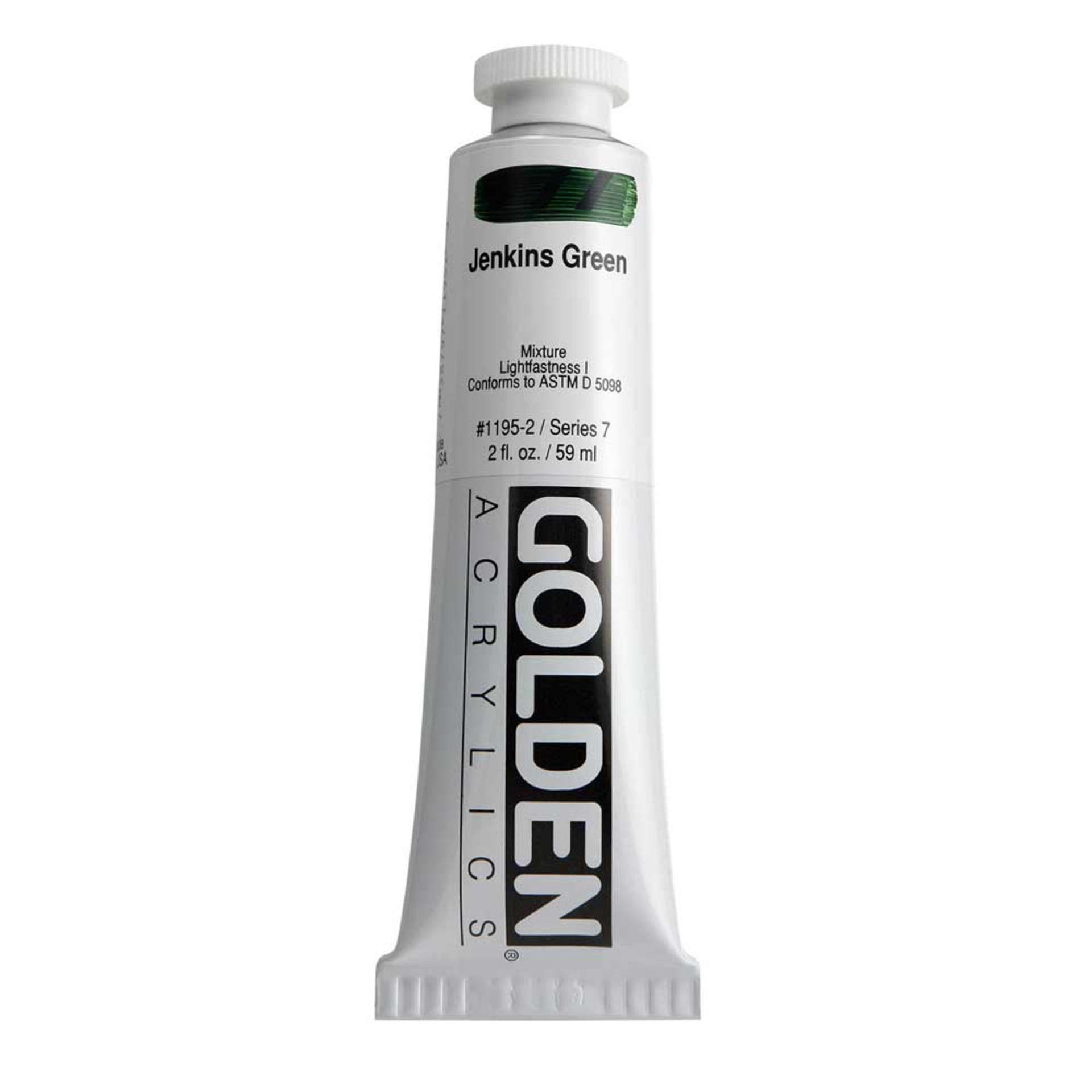 Golden Heavy Body Acrylic Tube 2oz Jenkins Green