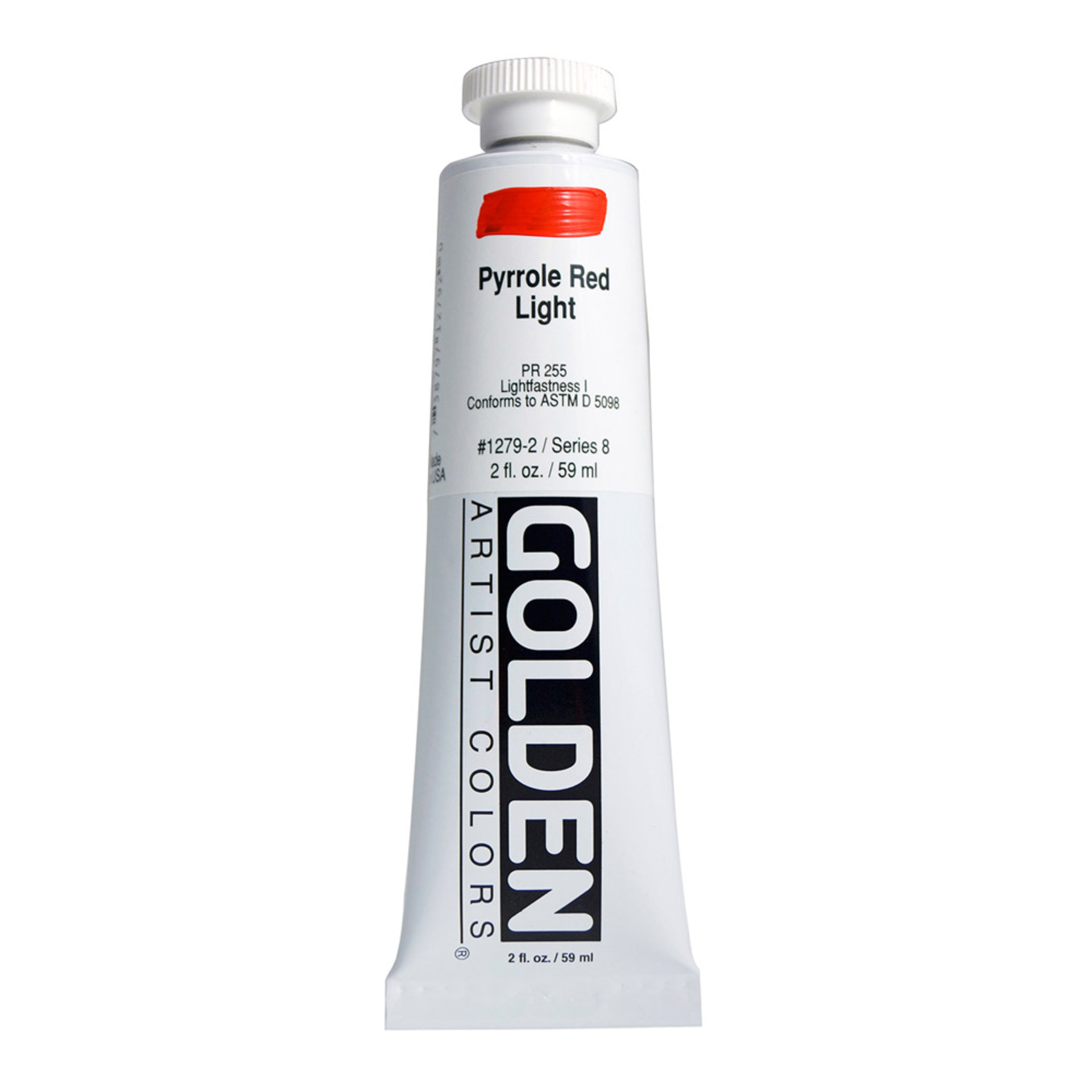Golden Heavy Body Acrylic Tube 2oz Light Red