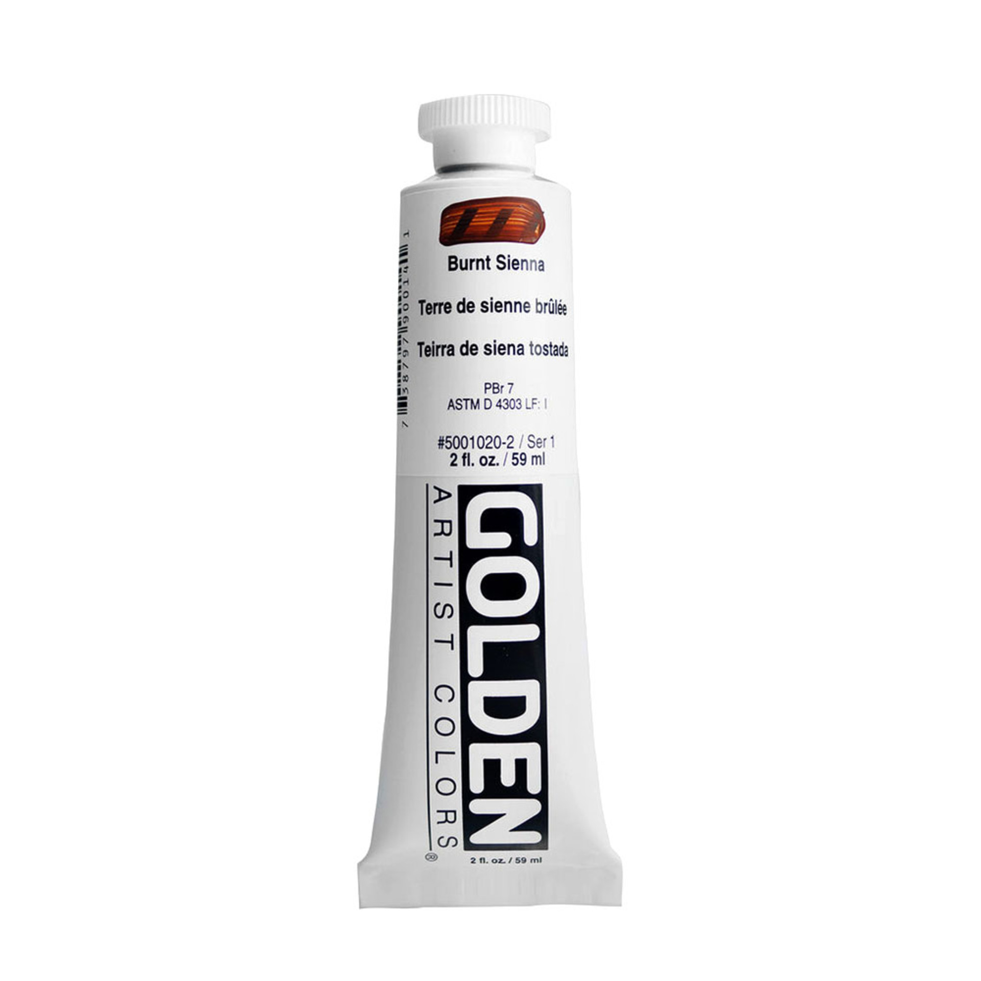 Golden Heavy Body Acrylic Tube 2oz