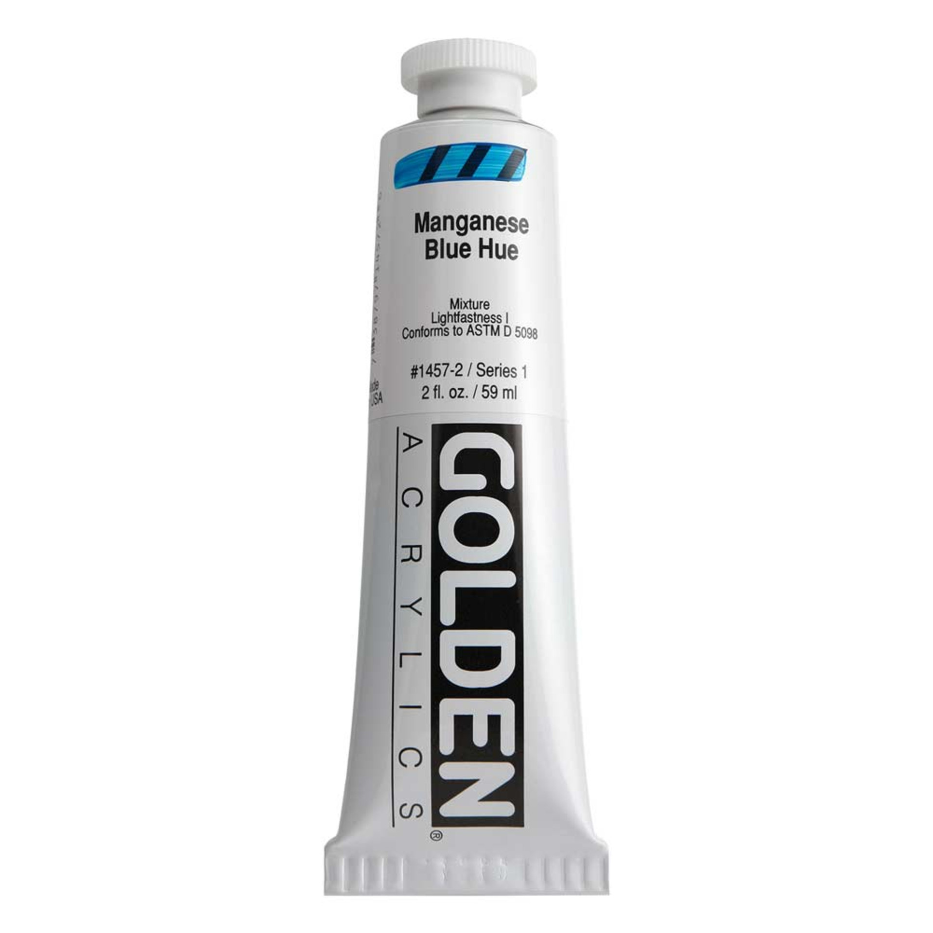 Golden Heavy Body Acrylic Tube 2oz Manganese Blue Hue