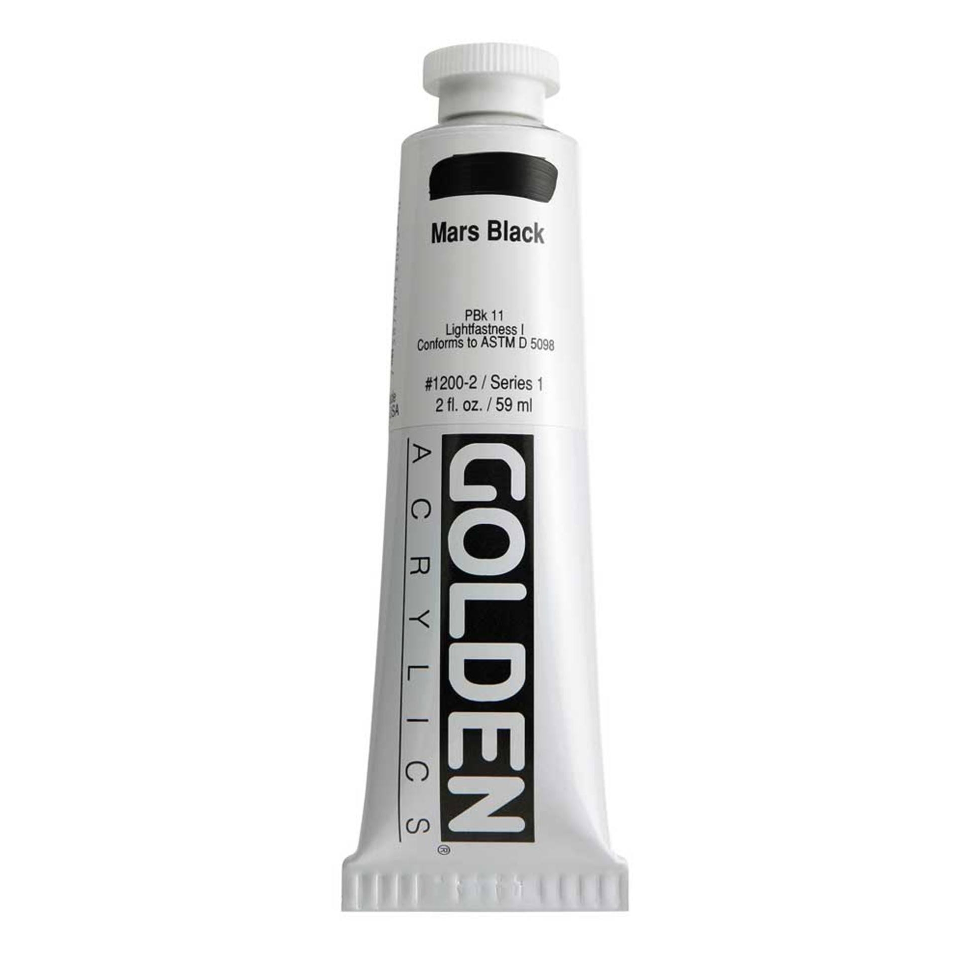 Golden Heavy Body Acrylic Tube 2oz Mars Black