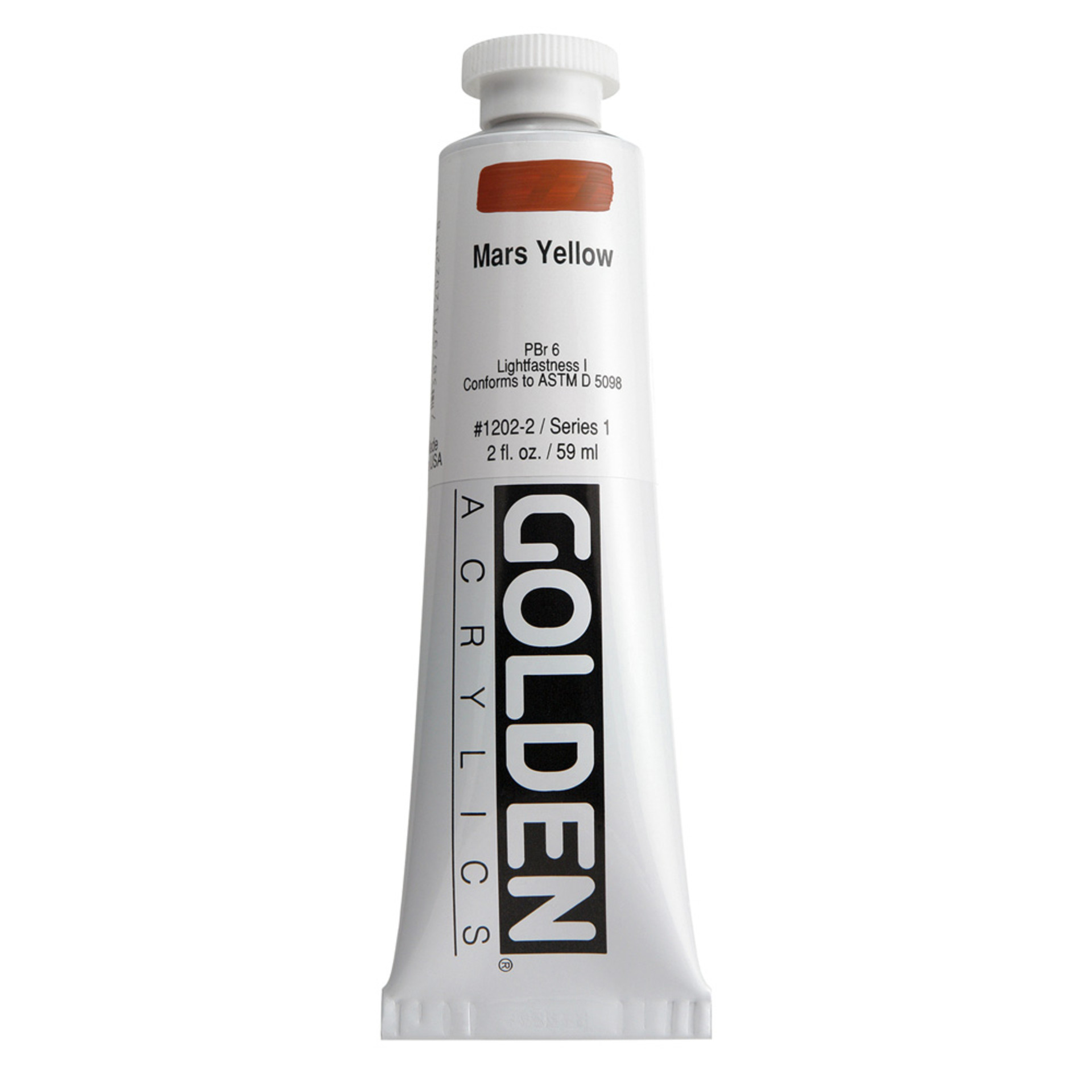 Golden Heavy Body Acrylic Tube 2oz Mars