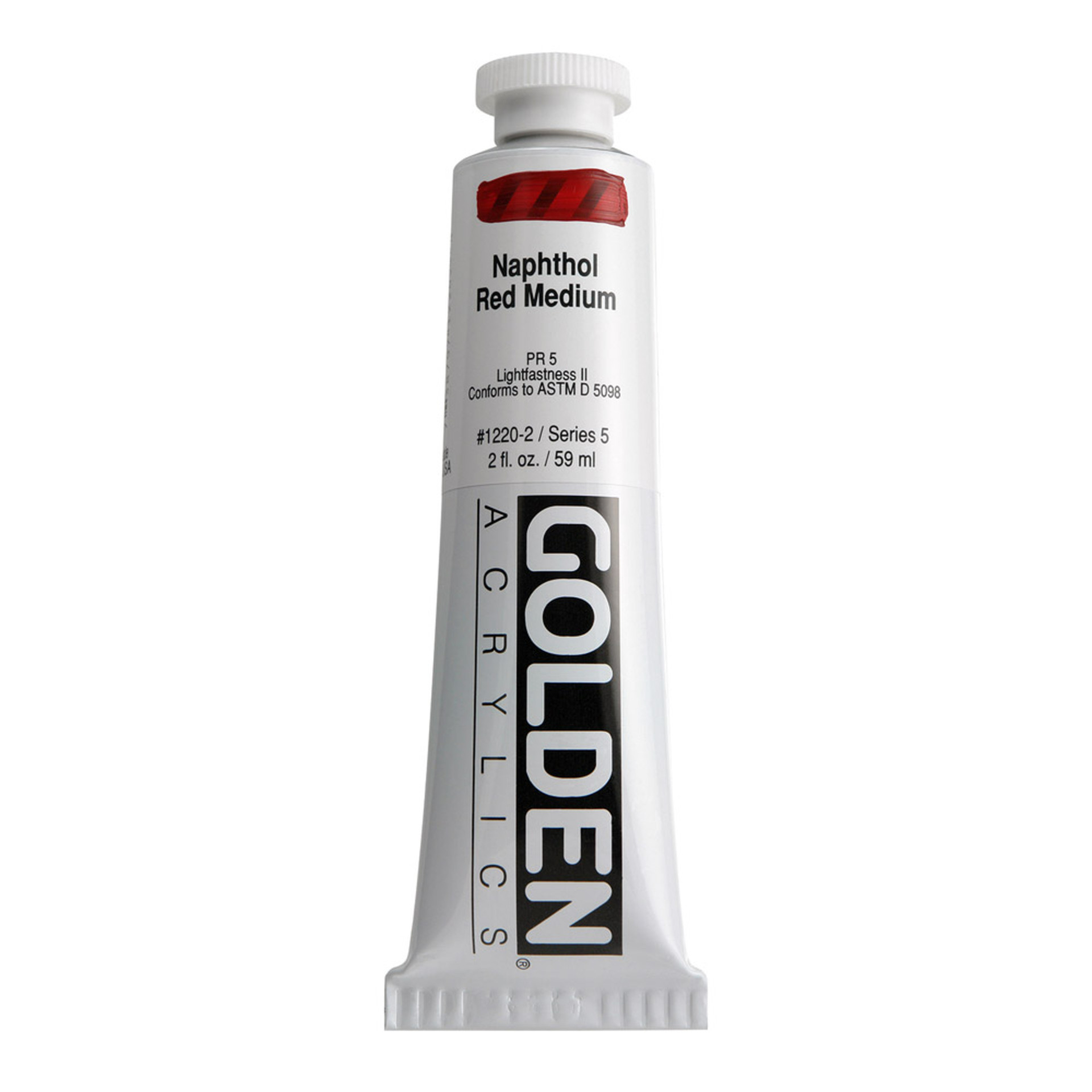 Golden Heavy Body Acrylic Tube 2oz Naphtol Red Medium
