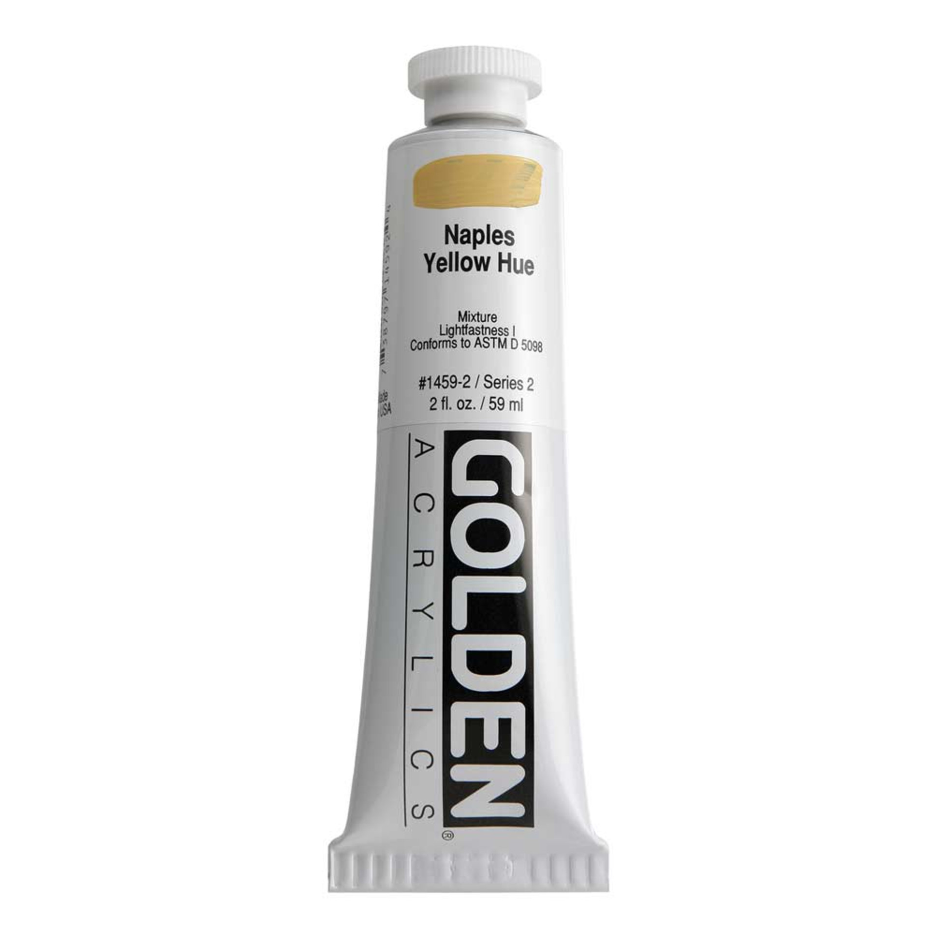 Golden Heavy Body Acrylic Tube 2oz Naples Yellow Hue