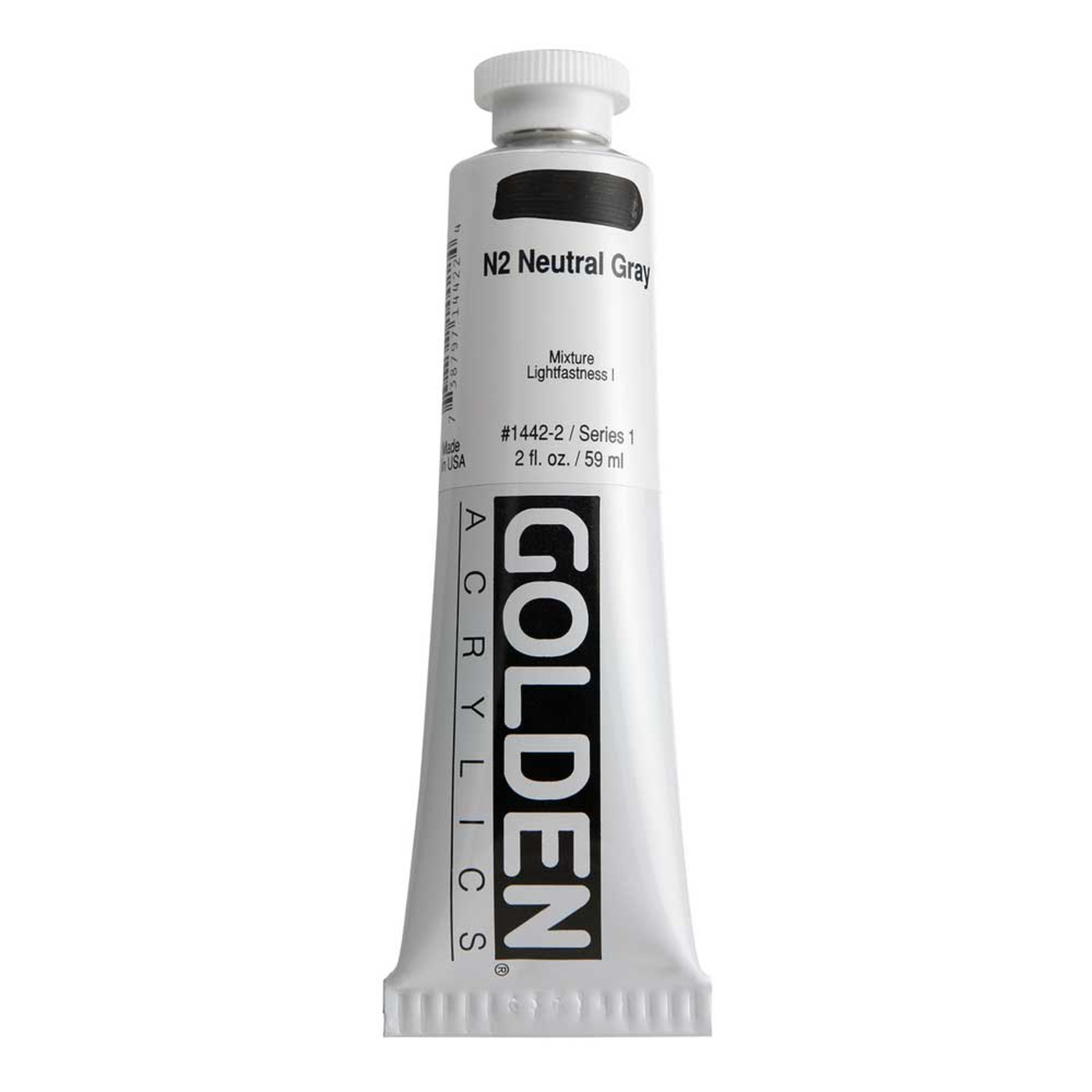 Golden Heavy Body Acrylic Tube 2oz Neutral Gray 2