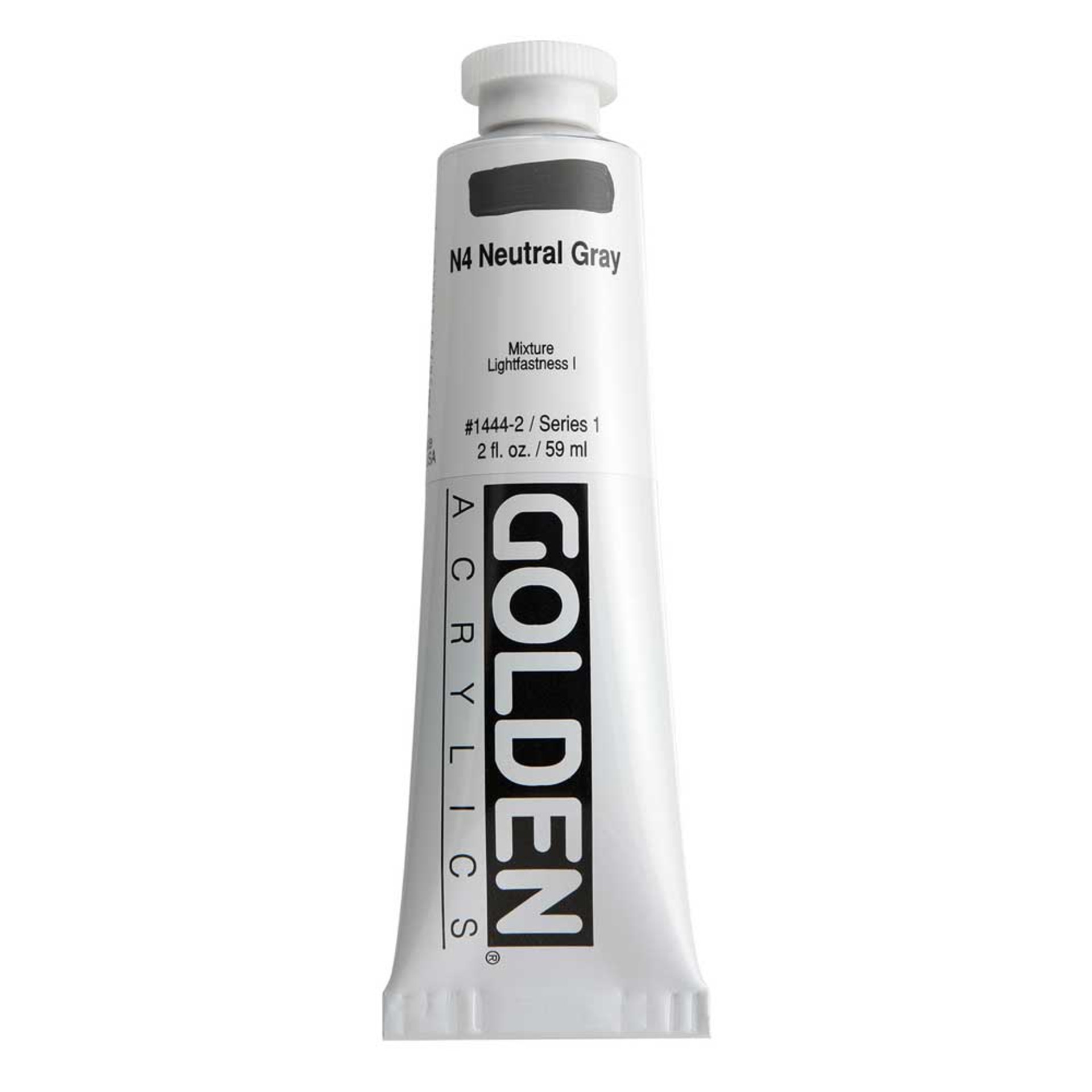 Golden Heavy Body Acrylic Tube 2oz Neutral Gray 4