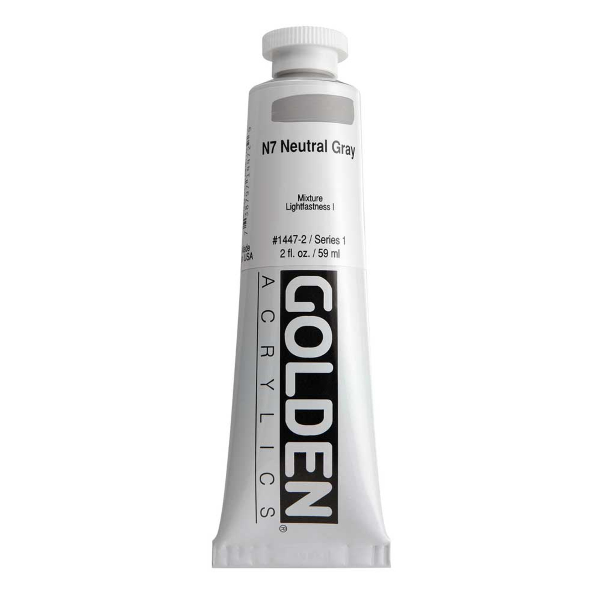 Golden Heavy Body Acrylic Tube 2oz Neutral Gray 7