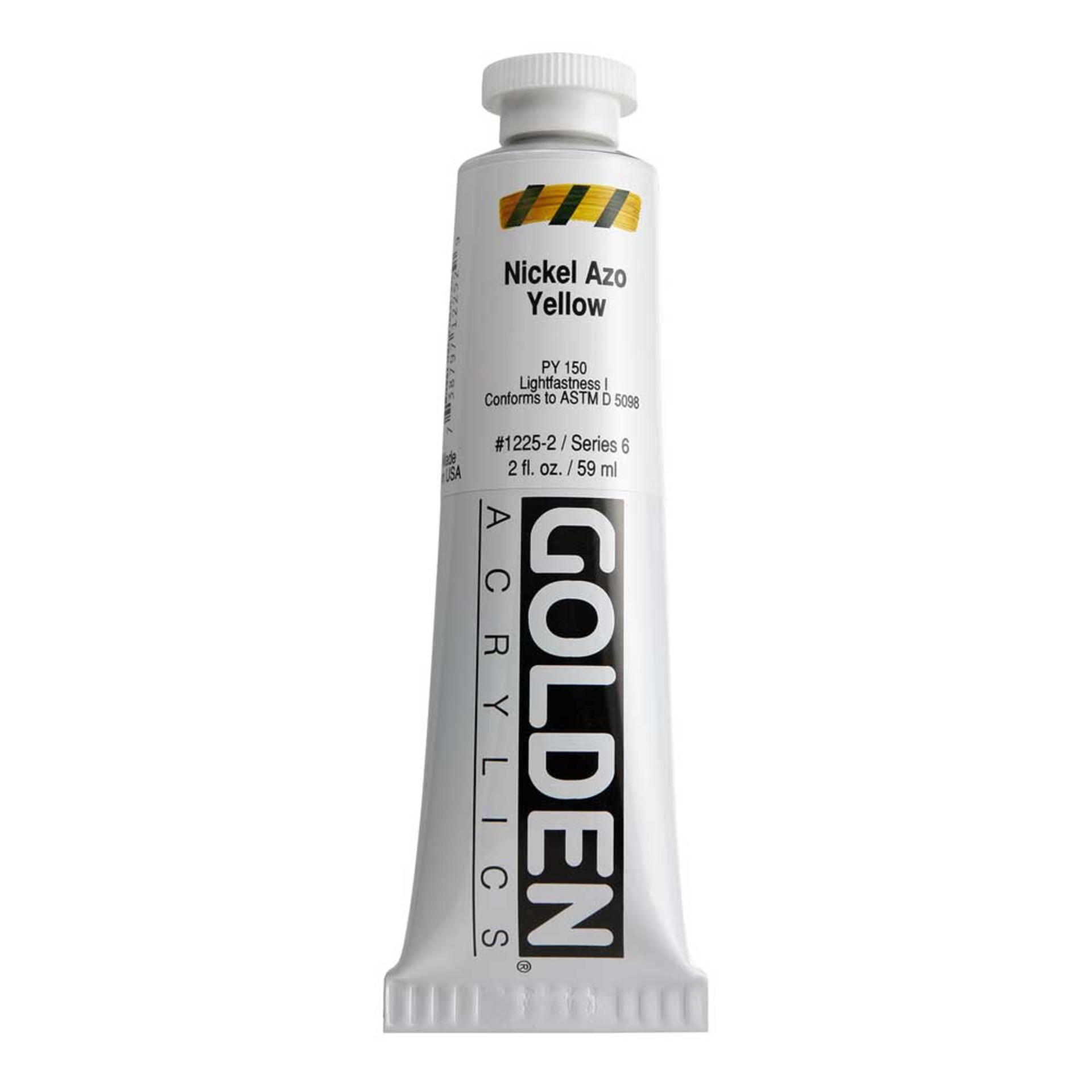 Golden Heavy Body Acrylic Tube 2oz Nickel Azo Yellow