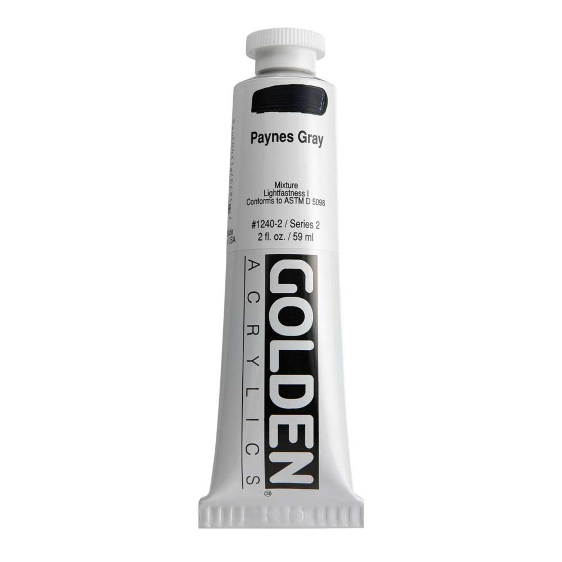 Golden Heavy Body Acrylic Tube 2oz Paynes Gray