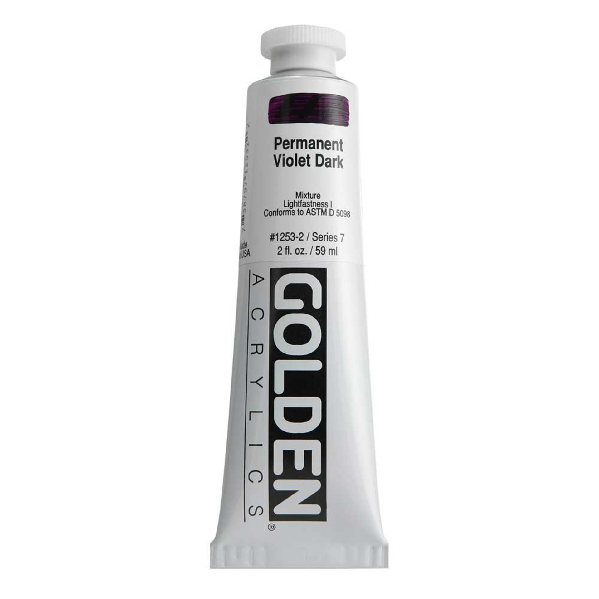Golden Heavy Body Acrylic Tube 2oz Permanent Violet Dark