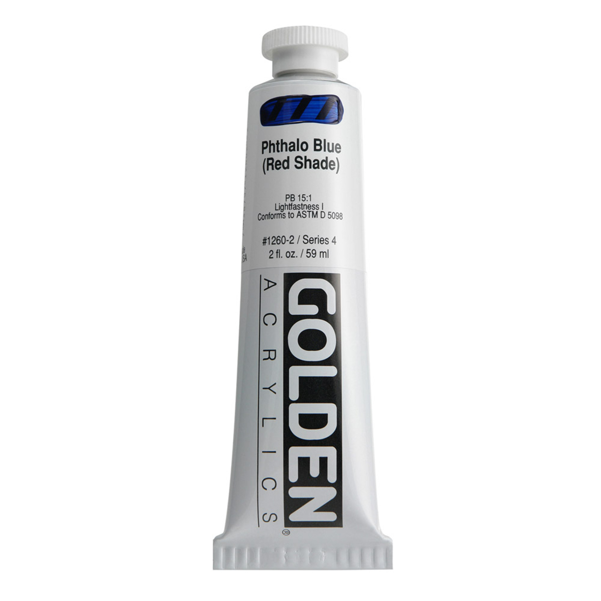 Golden Heavy Body Acrylic Tube 2oz Phthalo Blue Red
