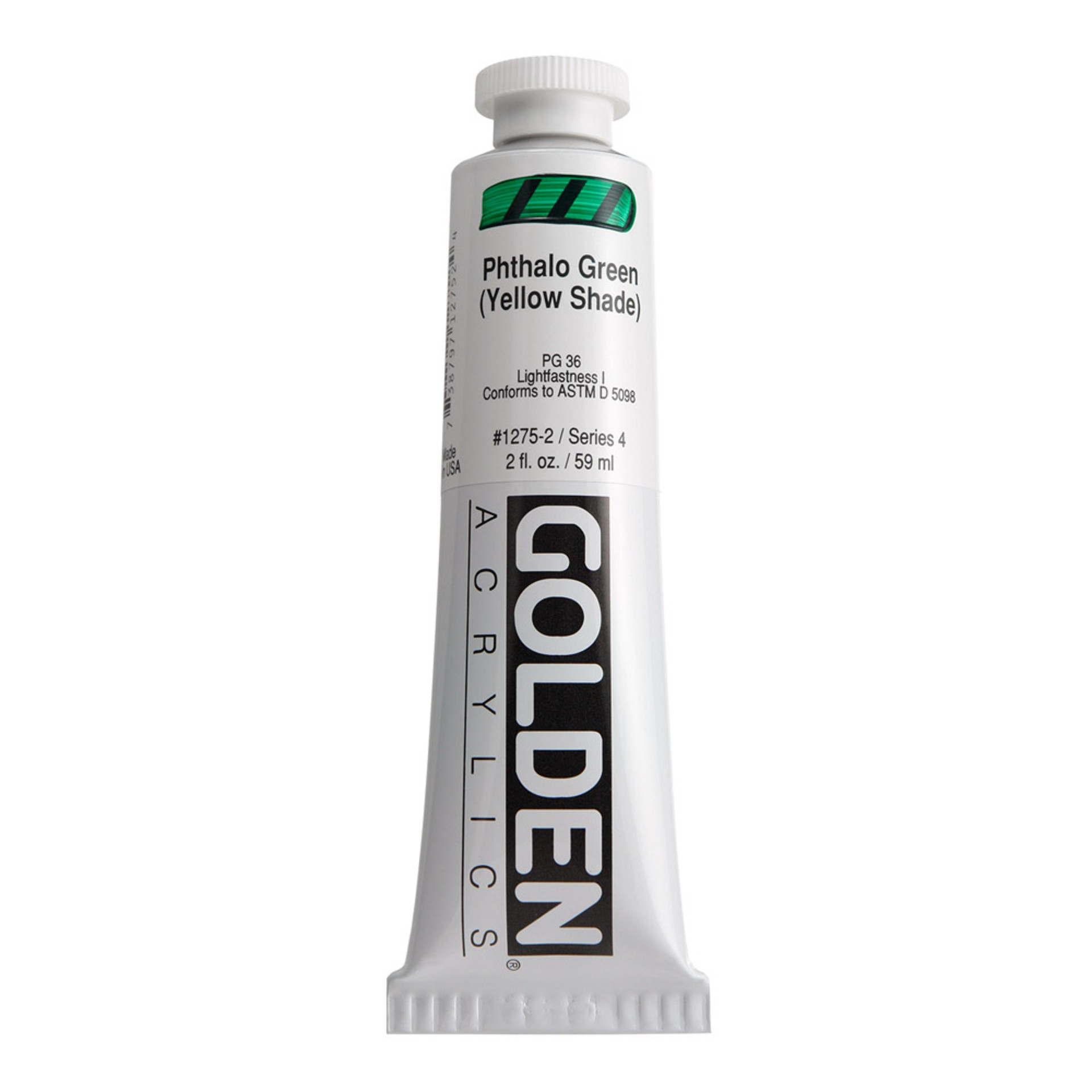 Golden Heavy Body Acrylic Tube 2oz Phthalo-Green Yellow