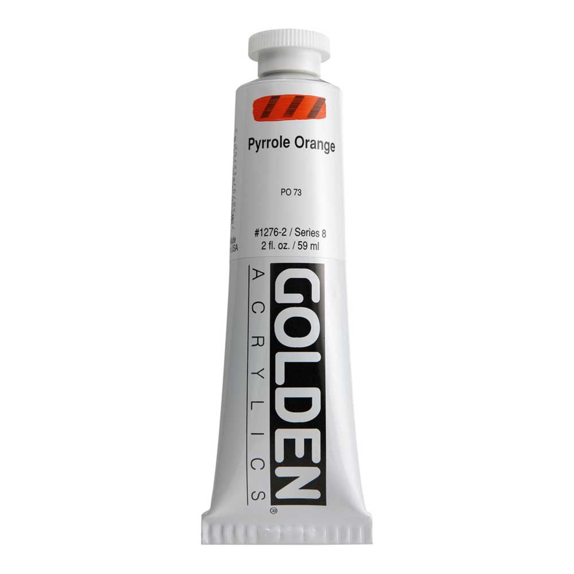 Golden Heavy Body Acrylic Tube 2oz Pyrrol Orange