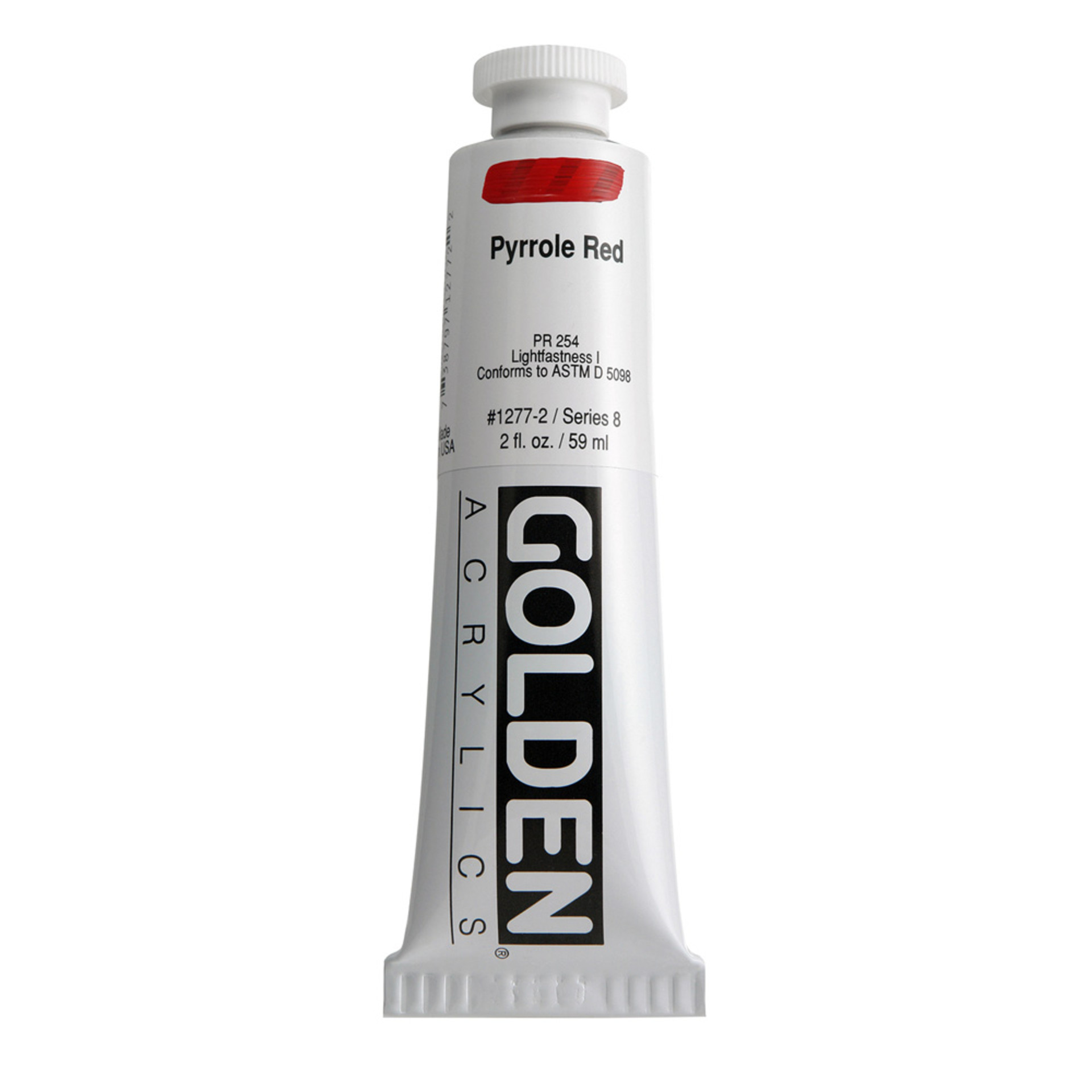 Golden Heavy Body Acrylic Tube 2oz Pyrrol Red
