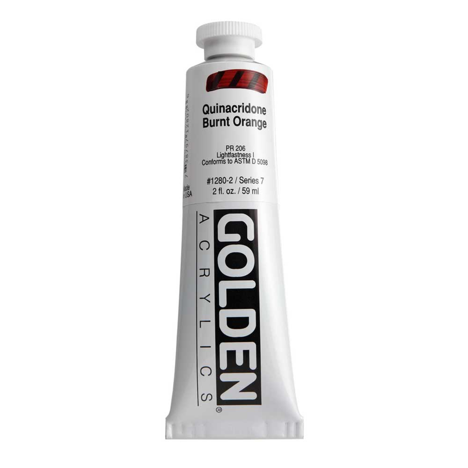 Golden Heavy Body Acrylic Tube 2oz Quinacridone Burnt Orange