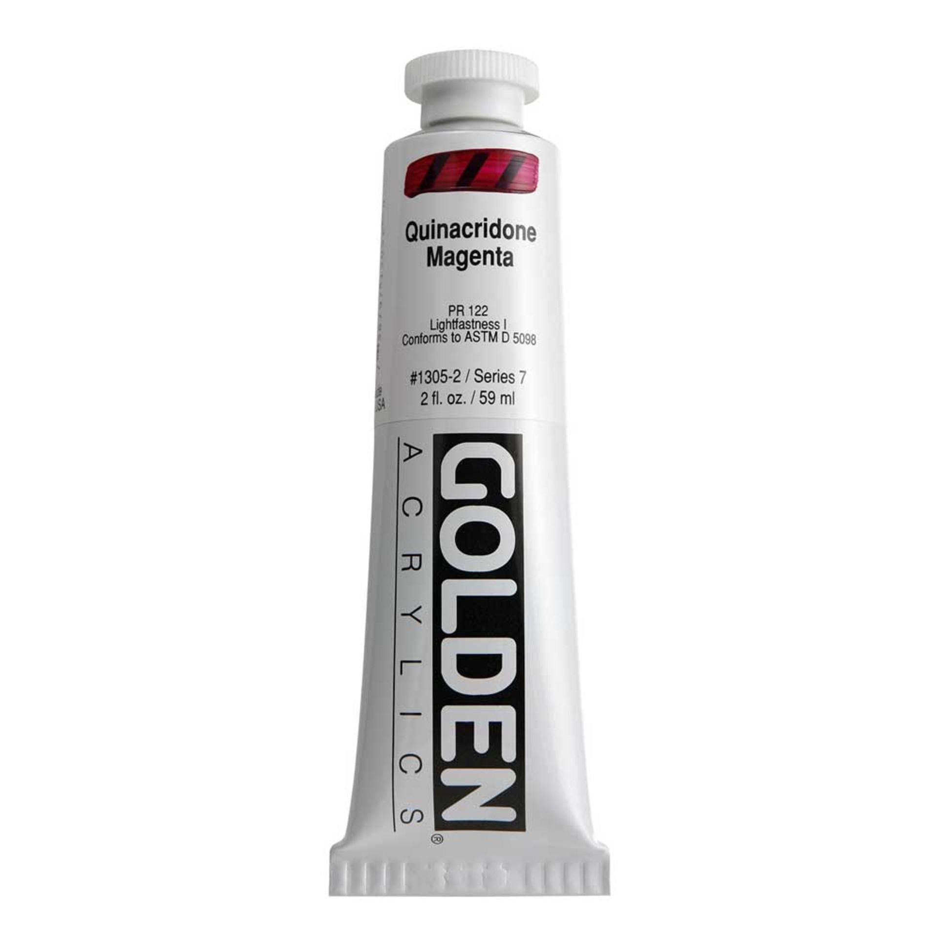 Golden Heavy Body Acrylic Tube 2oz Quinacridone Magenta