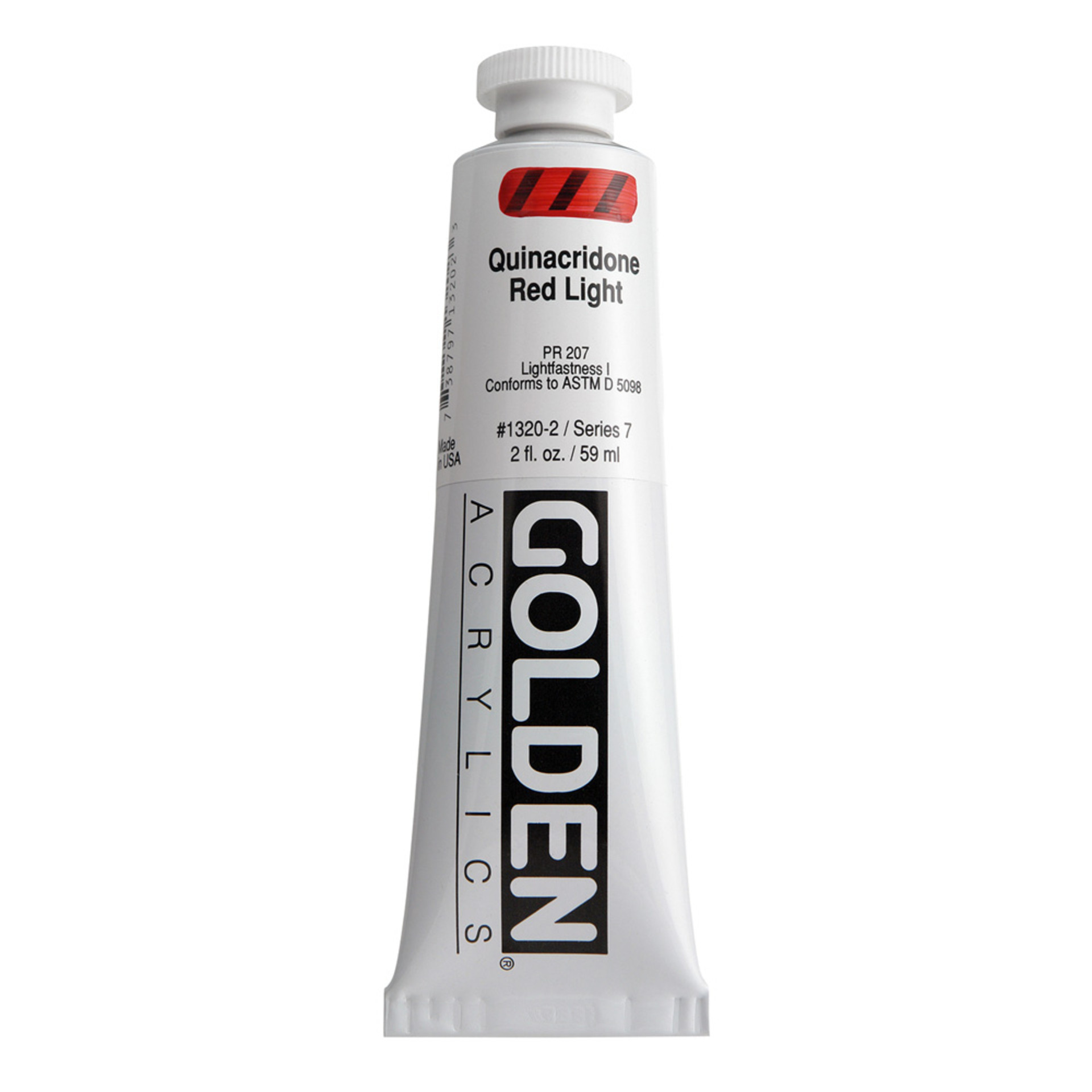 Golden Heavy Body Acrylic Tube 2oz Quinacridone Red