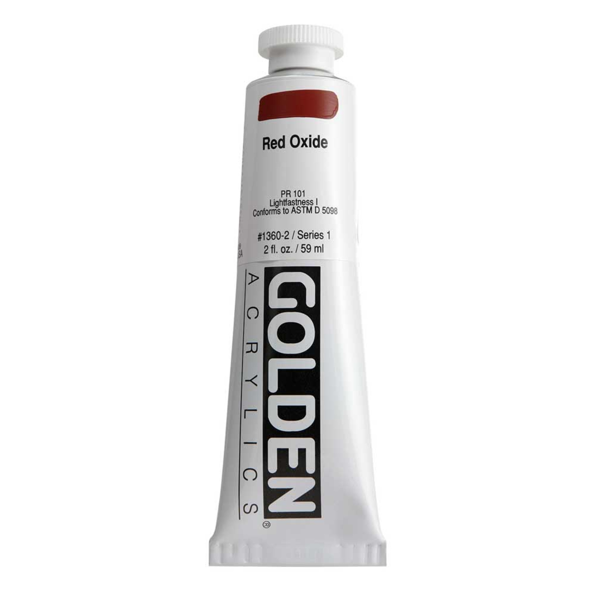 Golden Heavy Body Acrylic Tube 2oz Red Oxide