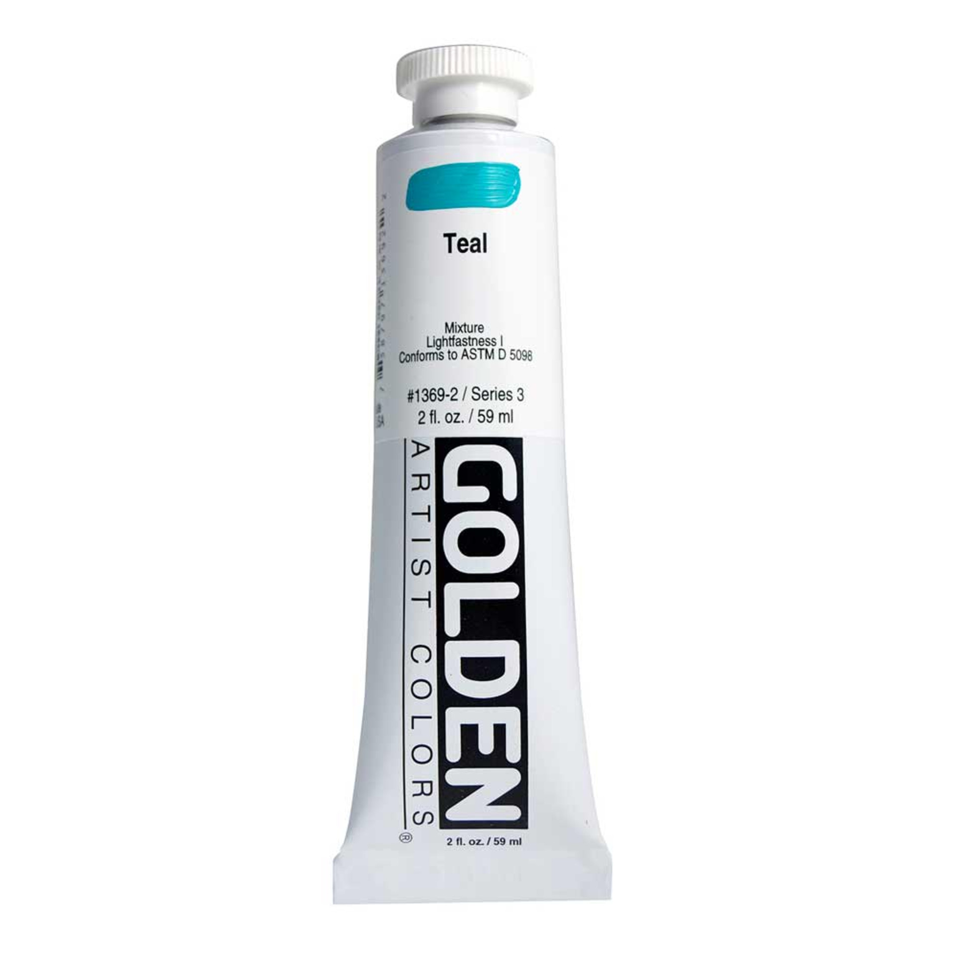 Golden Heavy Body Acrylic Tube 2oz Teal