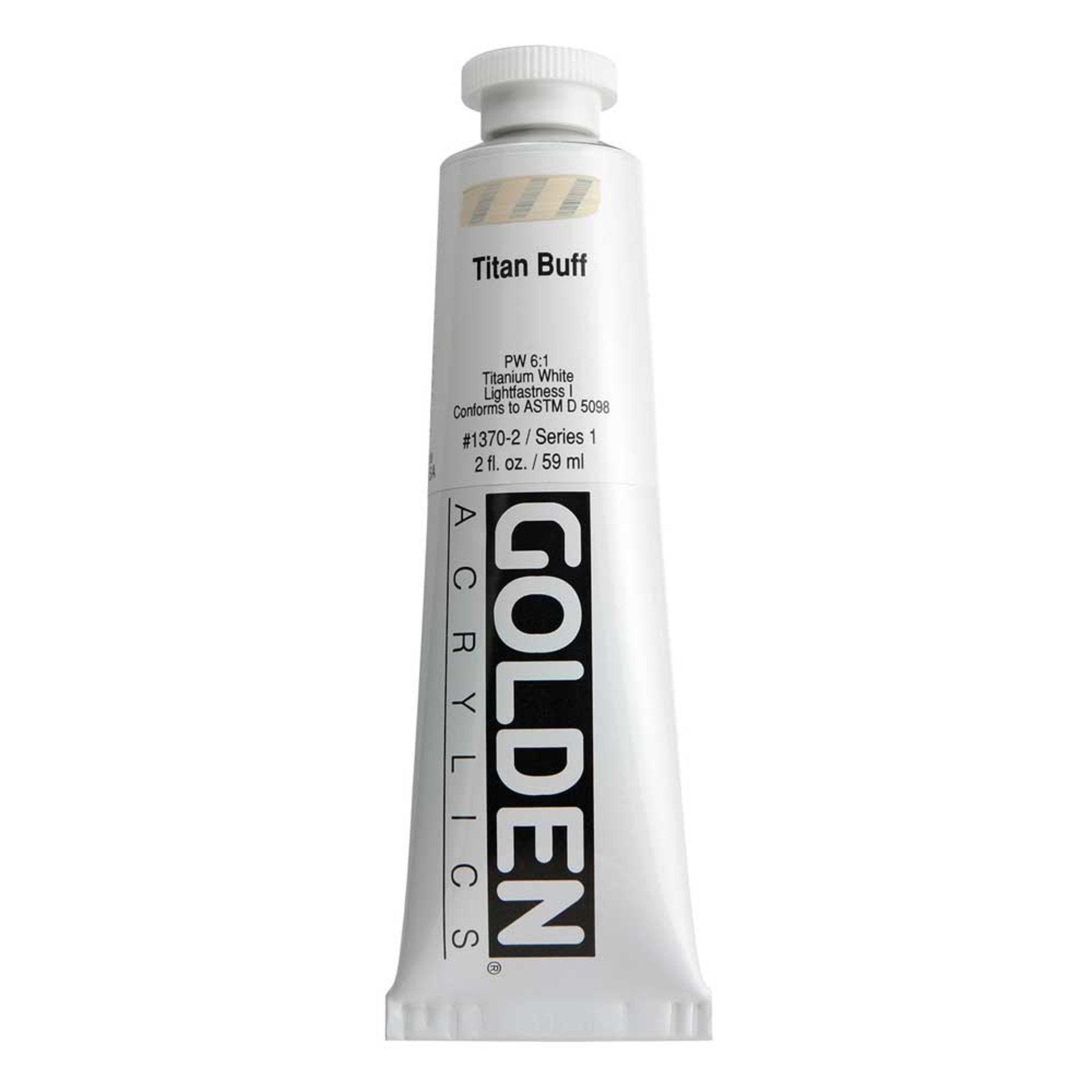 Golden Heavy Body Acrylic Tube 2oz Titanium Buff