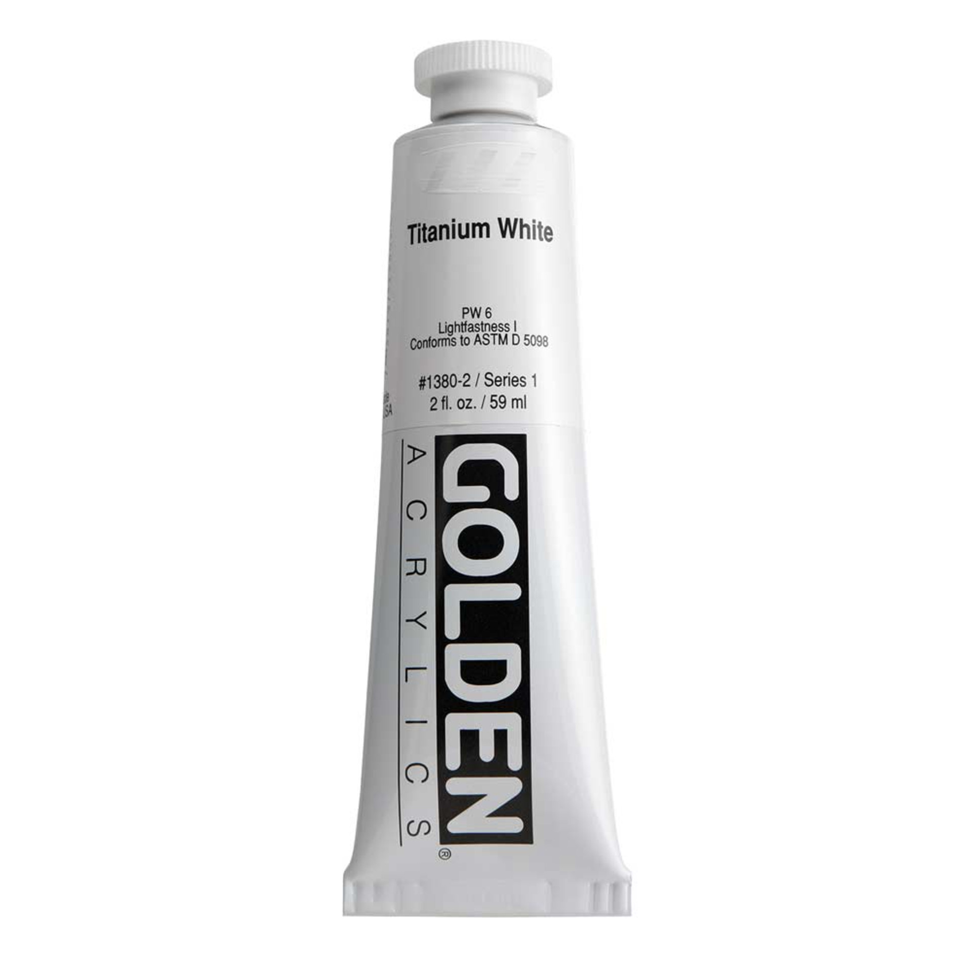 Golden Heavy Body Acrylic Tube 2oz Titanium White