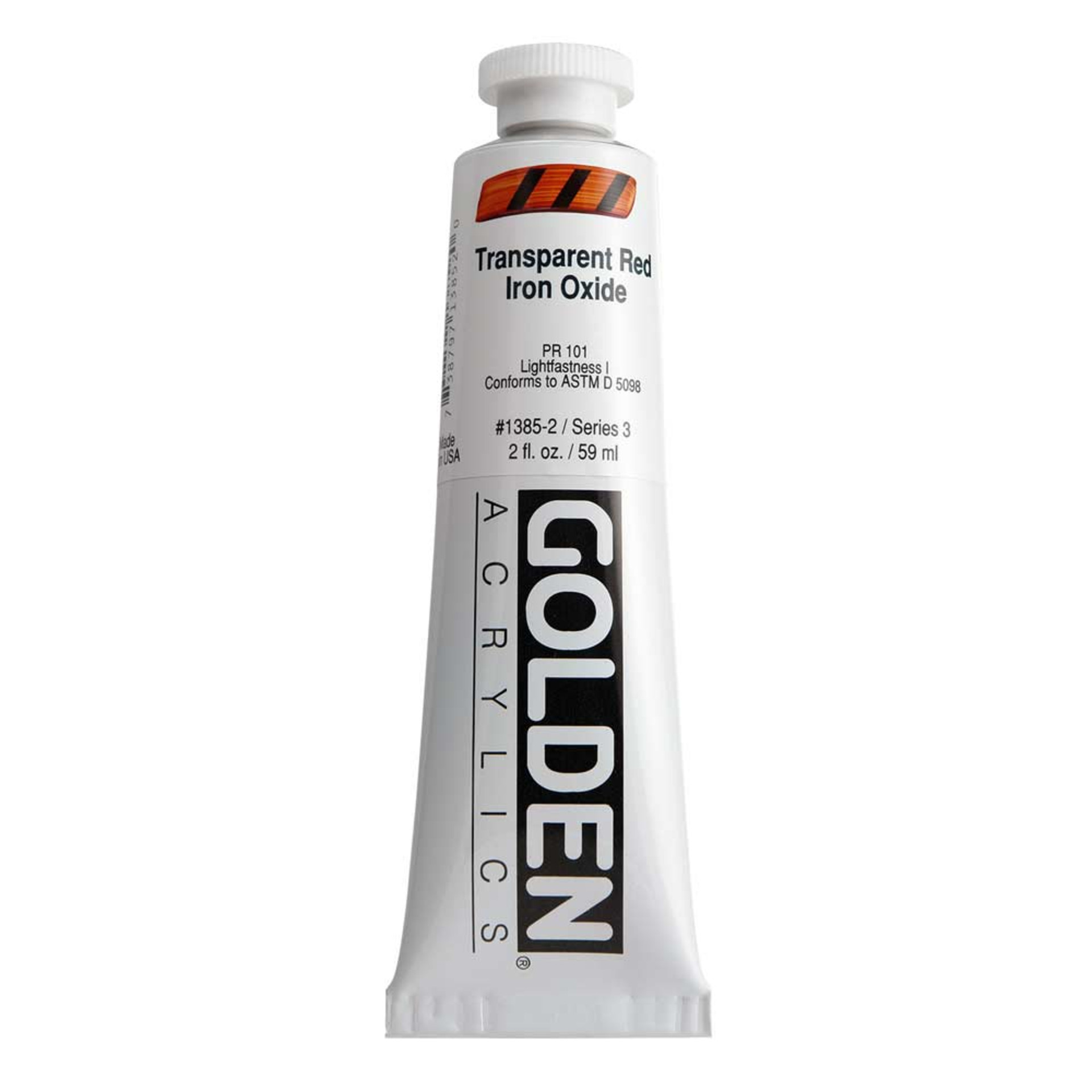 Golden Heavy Body Acrylic Tube 2oz Transparent Red Iron Oxide