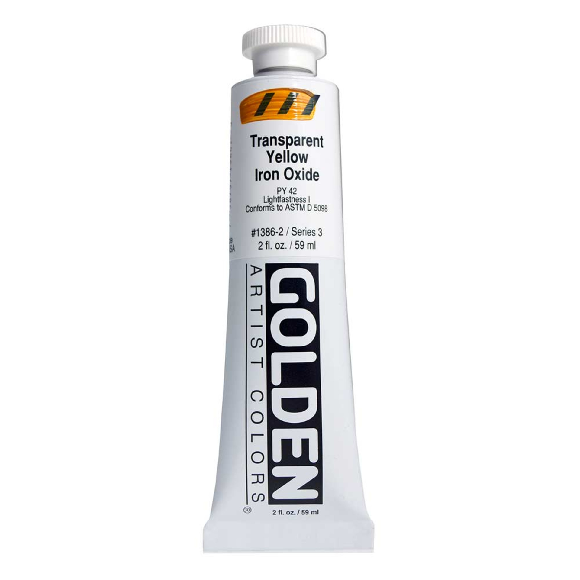 Golden Heavy Body Acrylic Tube 2oz Transparent Yellow Oxide