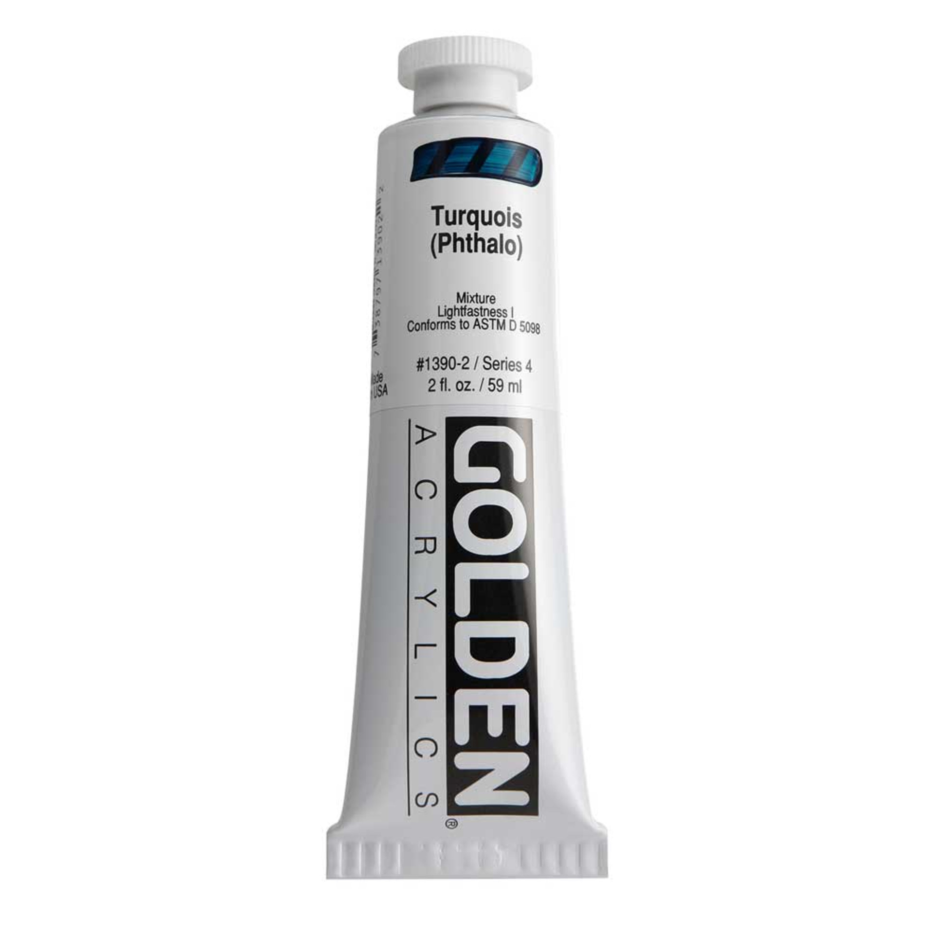 Golden Heavy Body Acrylic Tube 2oz Turquoise