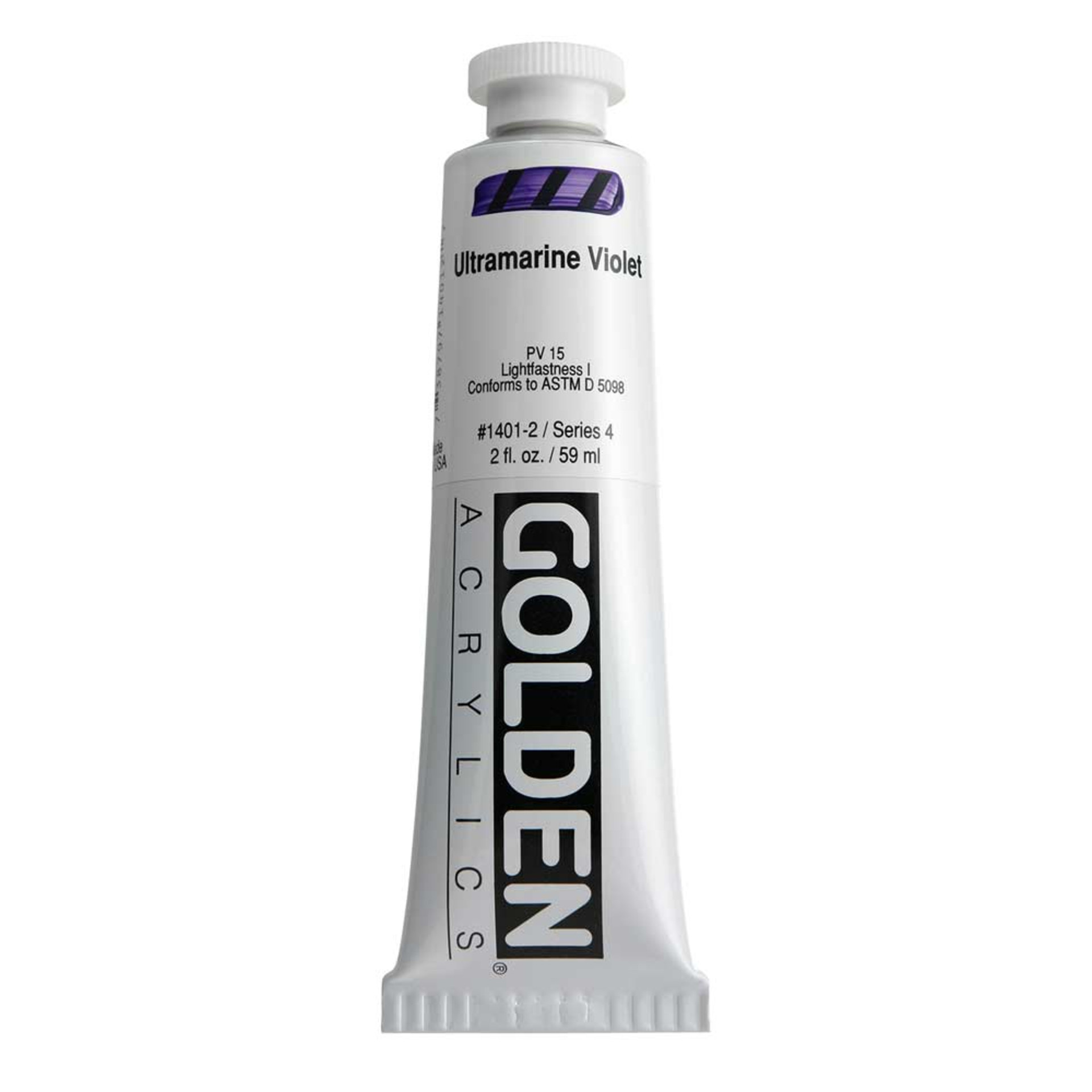 Golden Heavy Body Acrylic Tube 2oz Ultraviolet