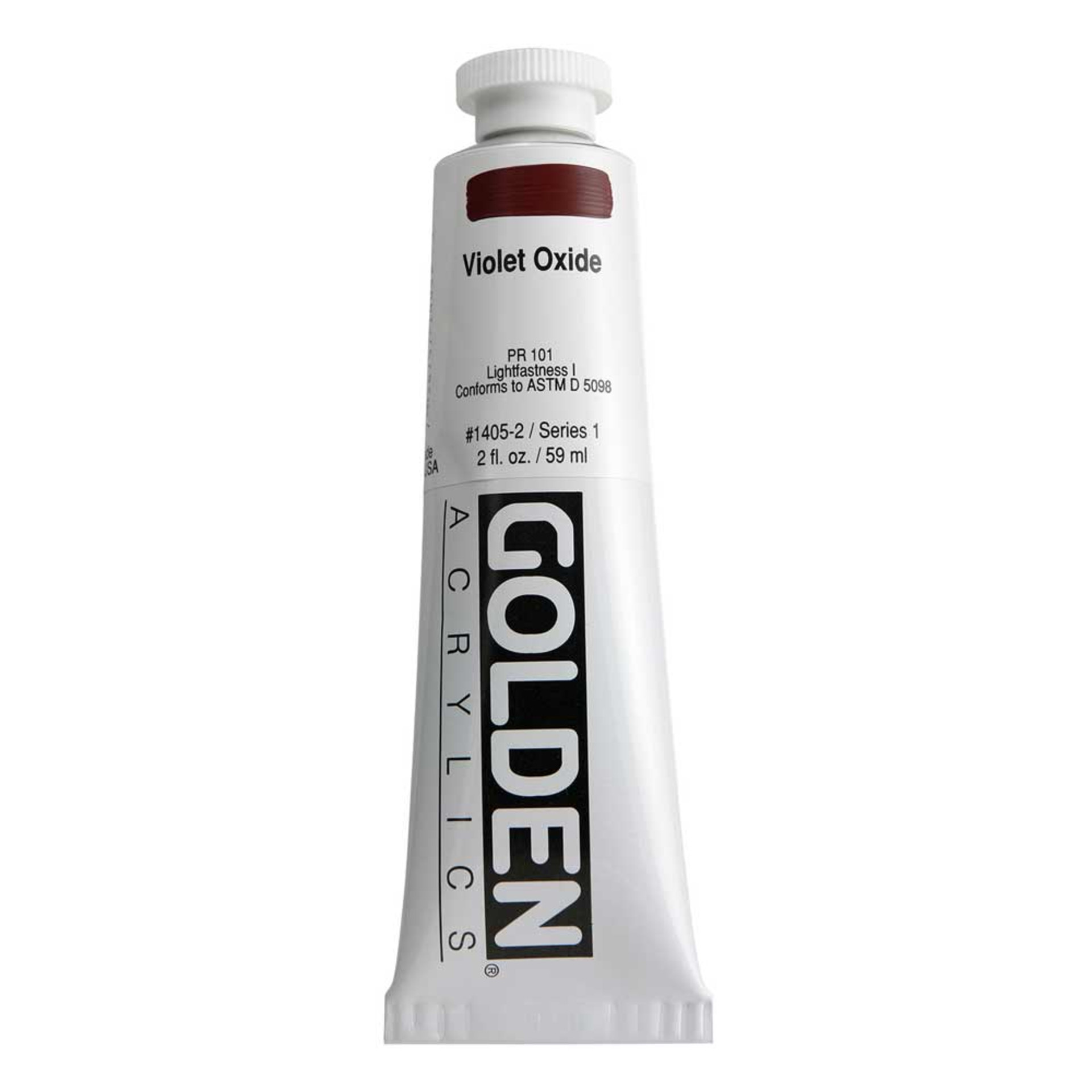 Golden Heavy Body Acrylic Tube 2oz Violet Oxide