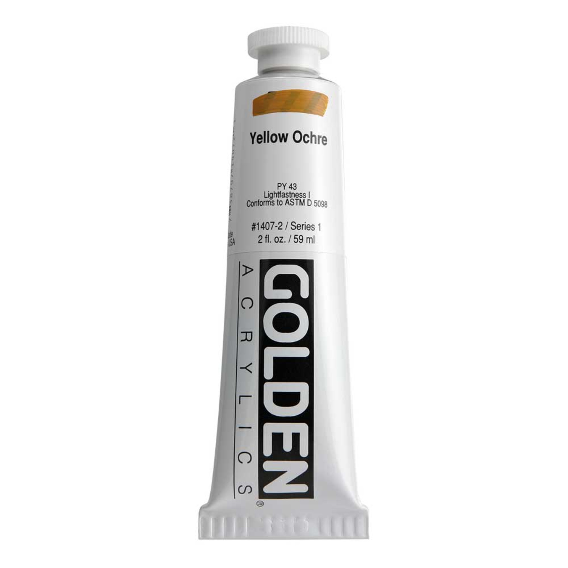 Golden Heavy Body Acrylic Tube 2oz Yellow Ochre