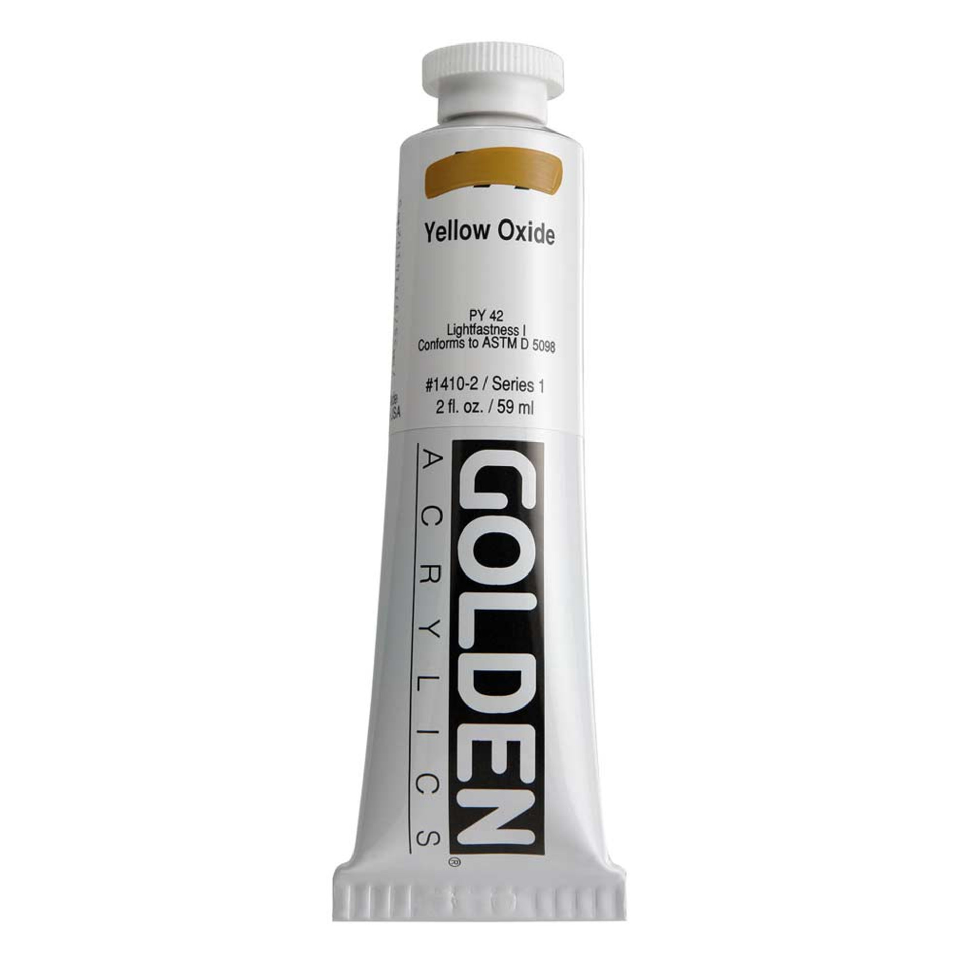 Golden Heavy Body Acrylic Tube 2oz Yellow Oxide