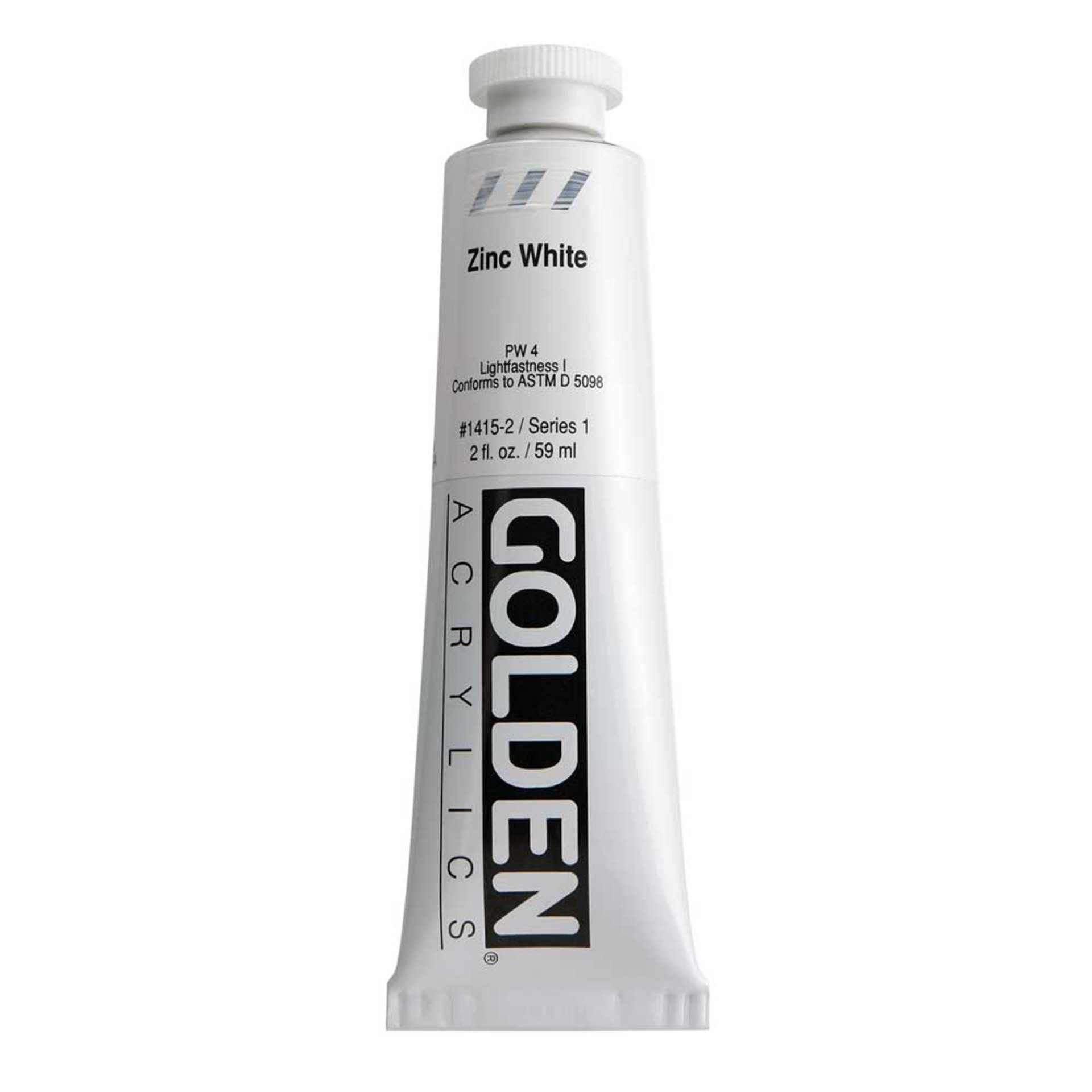 Golden Heavy Body Acrylic Tube 2oz Zinc White