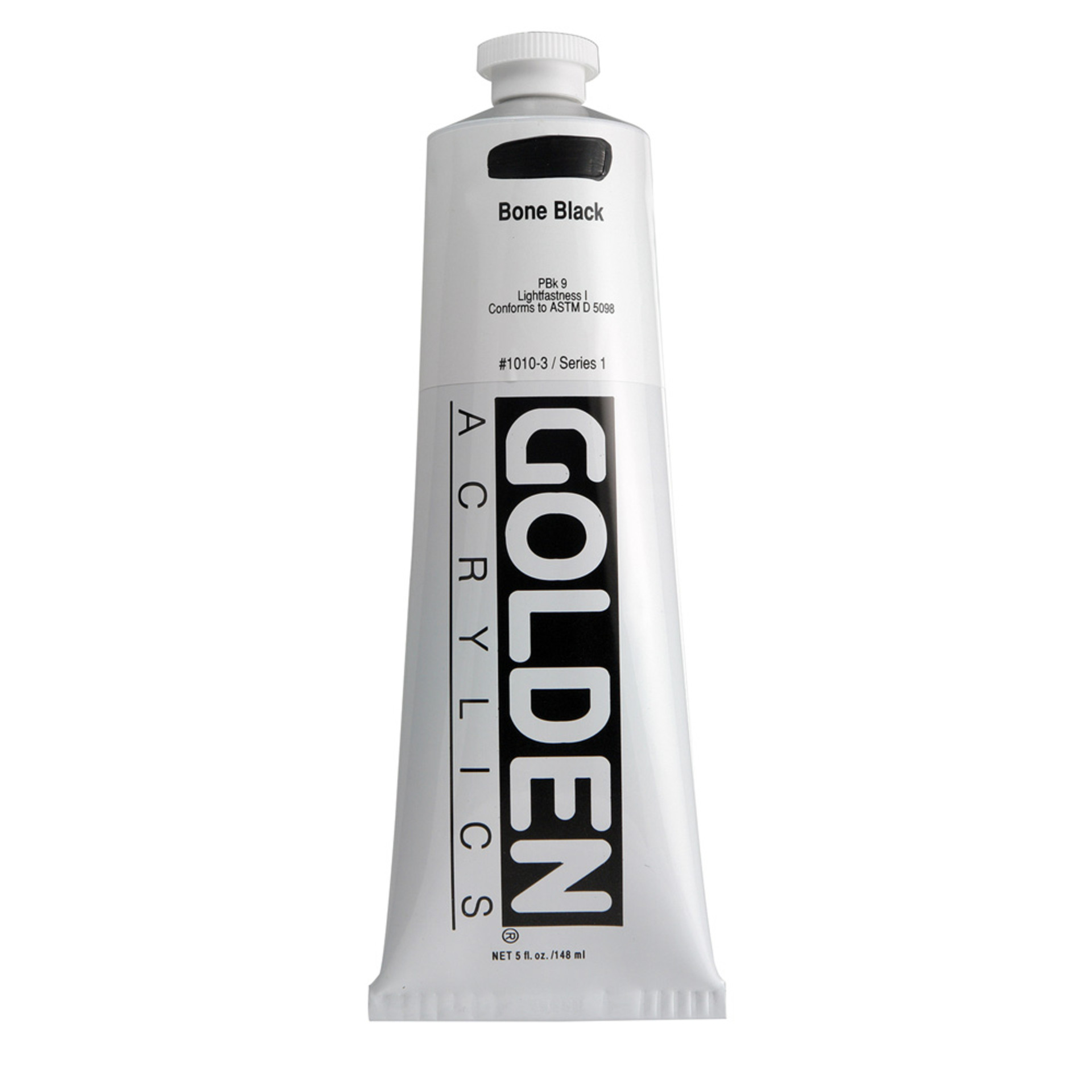 Golden Heavy Body Acrylic Tube 5oz Bone Black