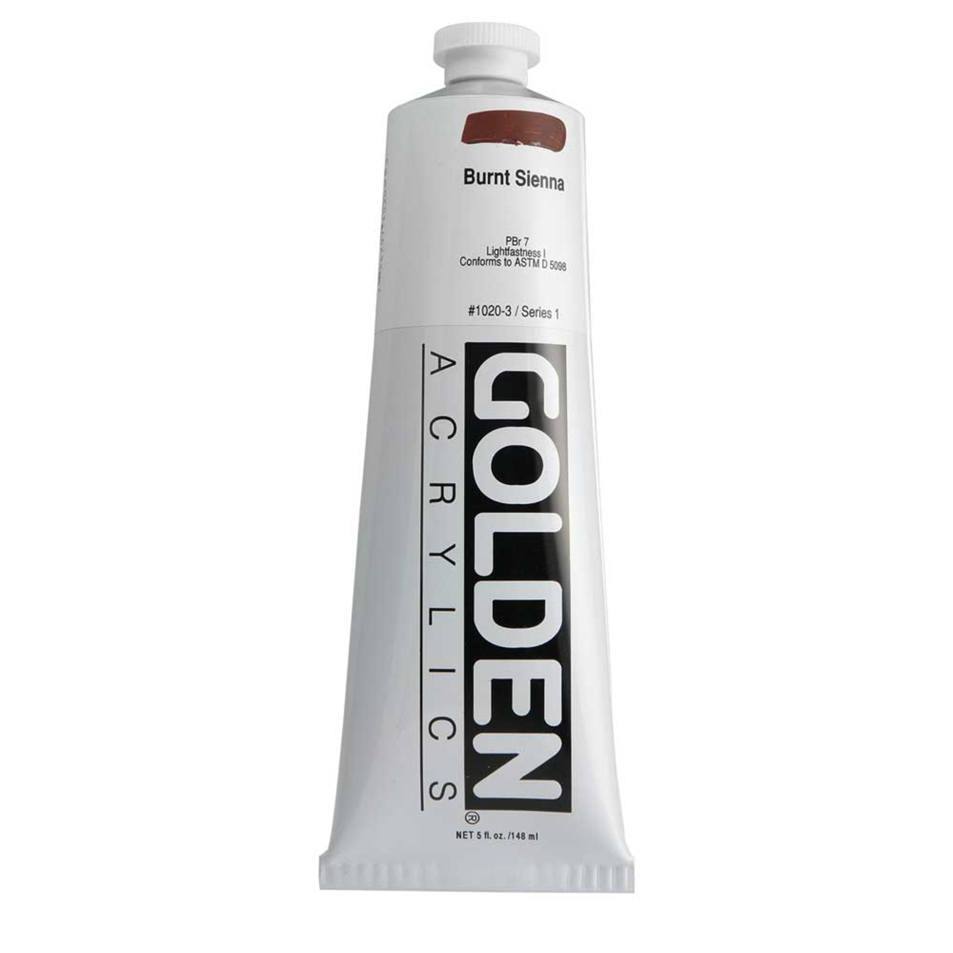 Golden Heavy Body Acrylic Tube 5oz Burnt Sienna