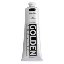 Golden Heavy Body Acrylic Tube 5oz Carbon Black