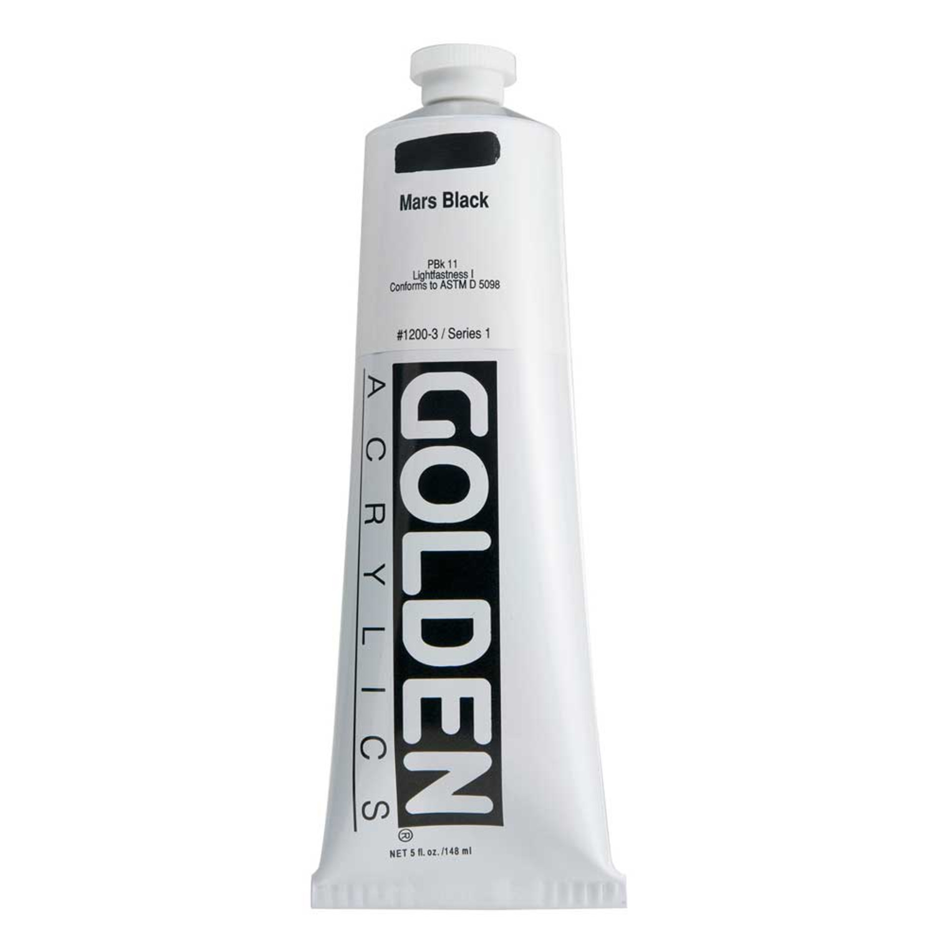 Golden Heavy Body Acrylic Tube 5oz Mars Black