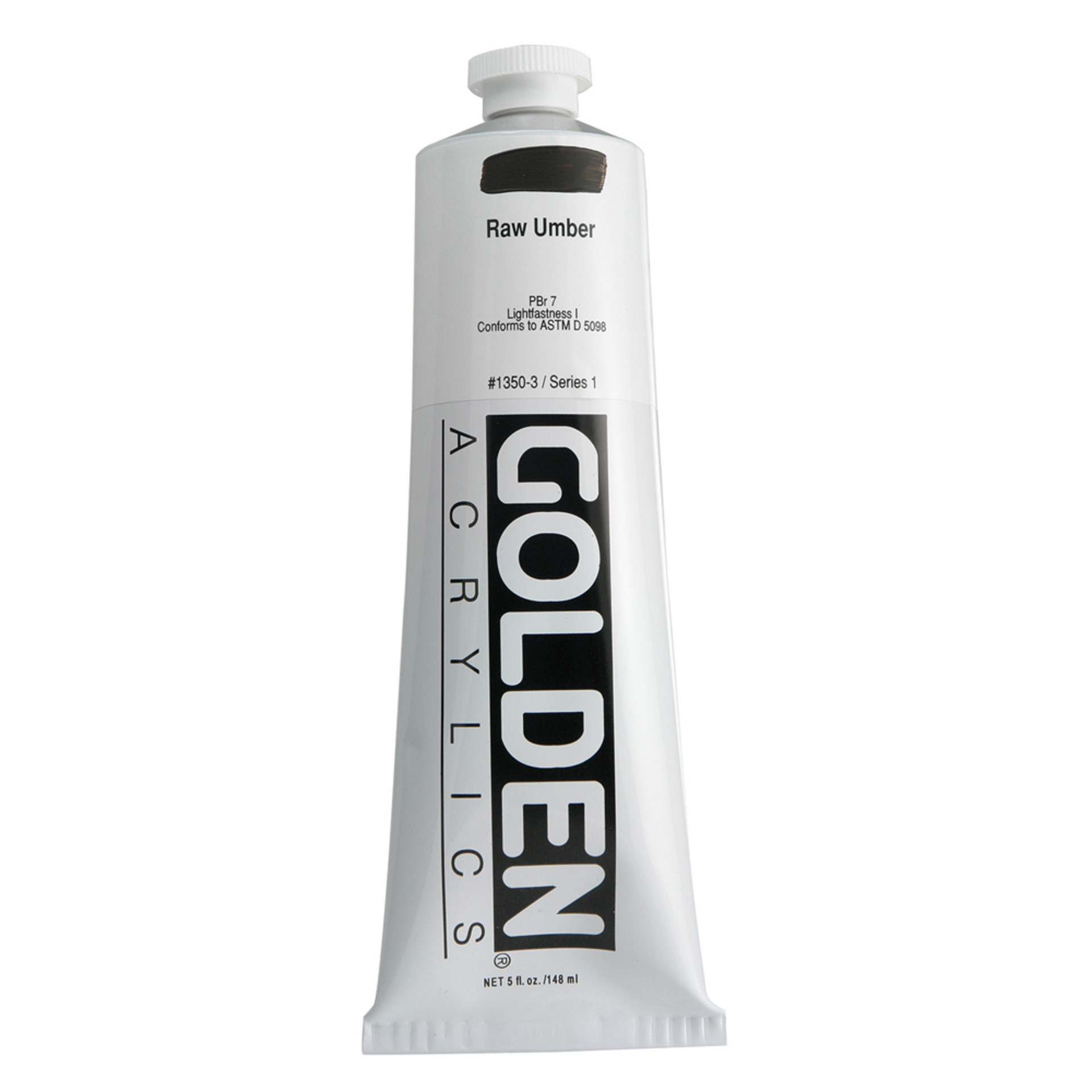 Golden Heavy Body Acrylic Tube 5oz Raw Umber