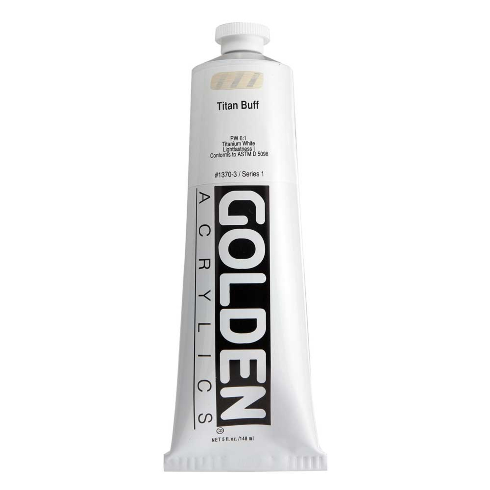 Golden Heavy Body Acrylic Tube 5oz Titanium Buff