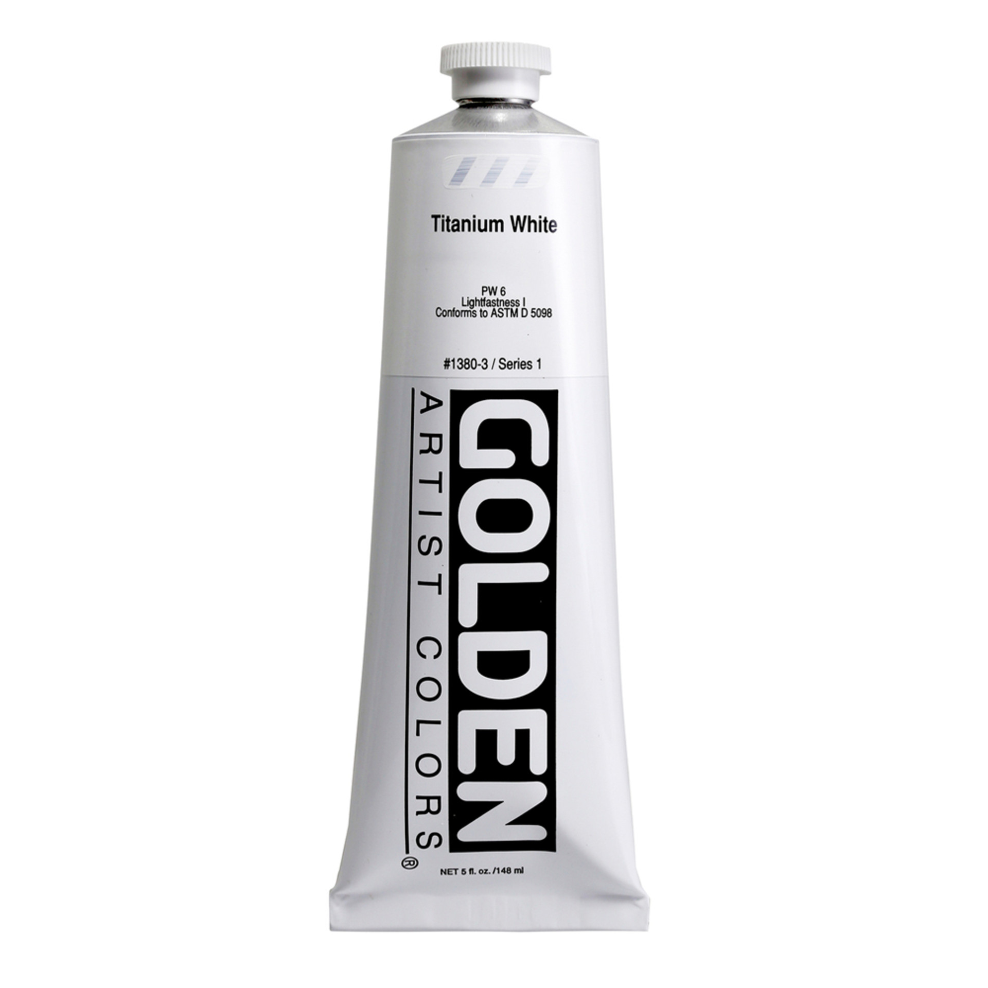 Golden Heavy Body Acrylic Tube 5oz Titanium White