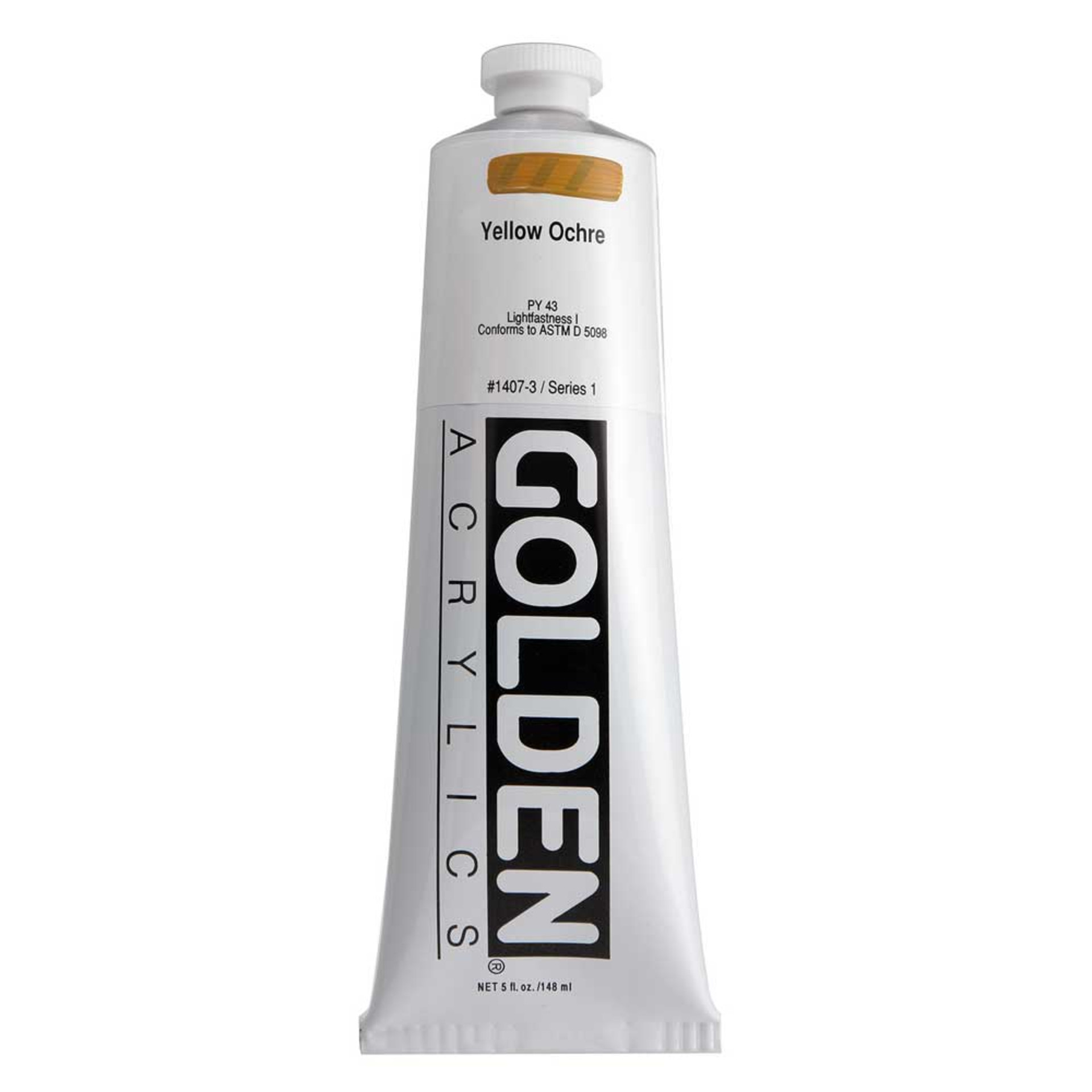 Golden Heavy Body Acrylic Tube 5oz Yellow Ochre
