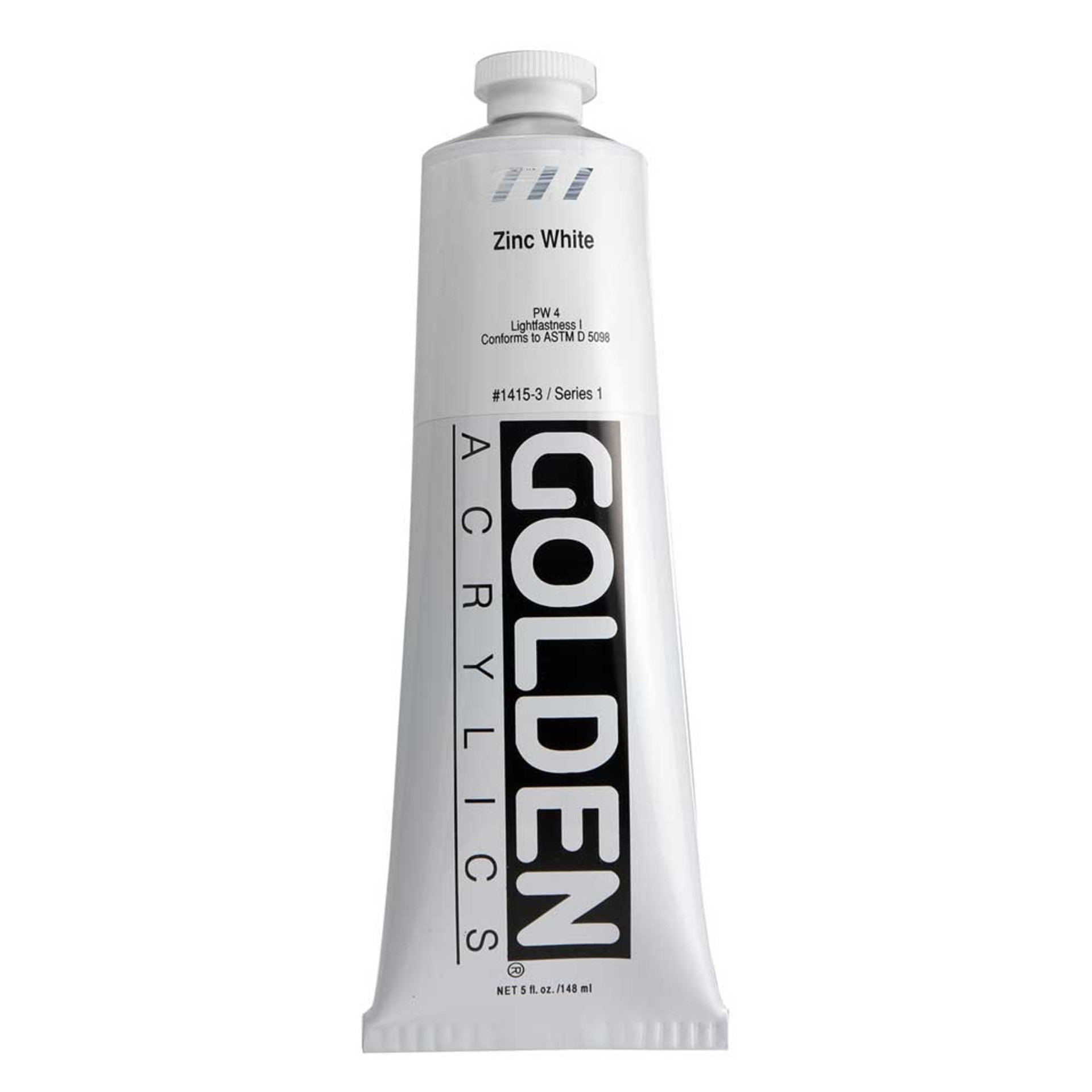 Golden Heavy Body Acrylic Tube 5oz Zinc White