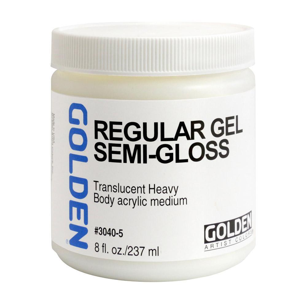 Golden Semi-Gloss Regular Gel 8oz