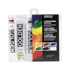 Golden 6-color Heavy Body Acrylic Intorductory Set 20ml