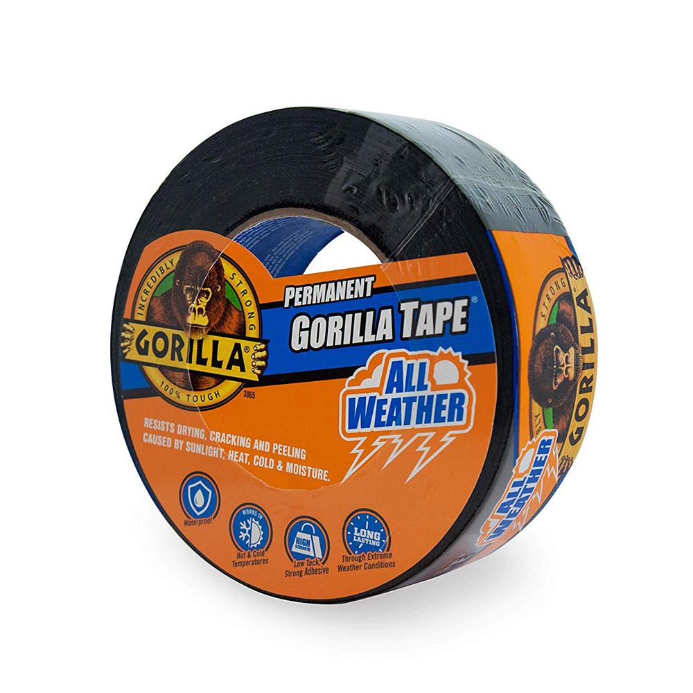 Gorilla Black Permanent All Weather Tape