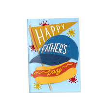 Happy Father's Day Hot Dog Greeting Card