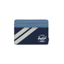Herschel Charlie Striped Leather Capsule Wallet – Navy