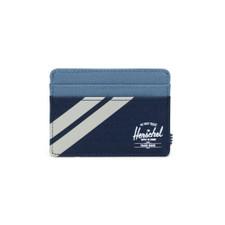 Herschel Charlie Striped Leather Capsule Wallet – Navy