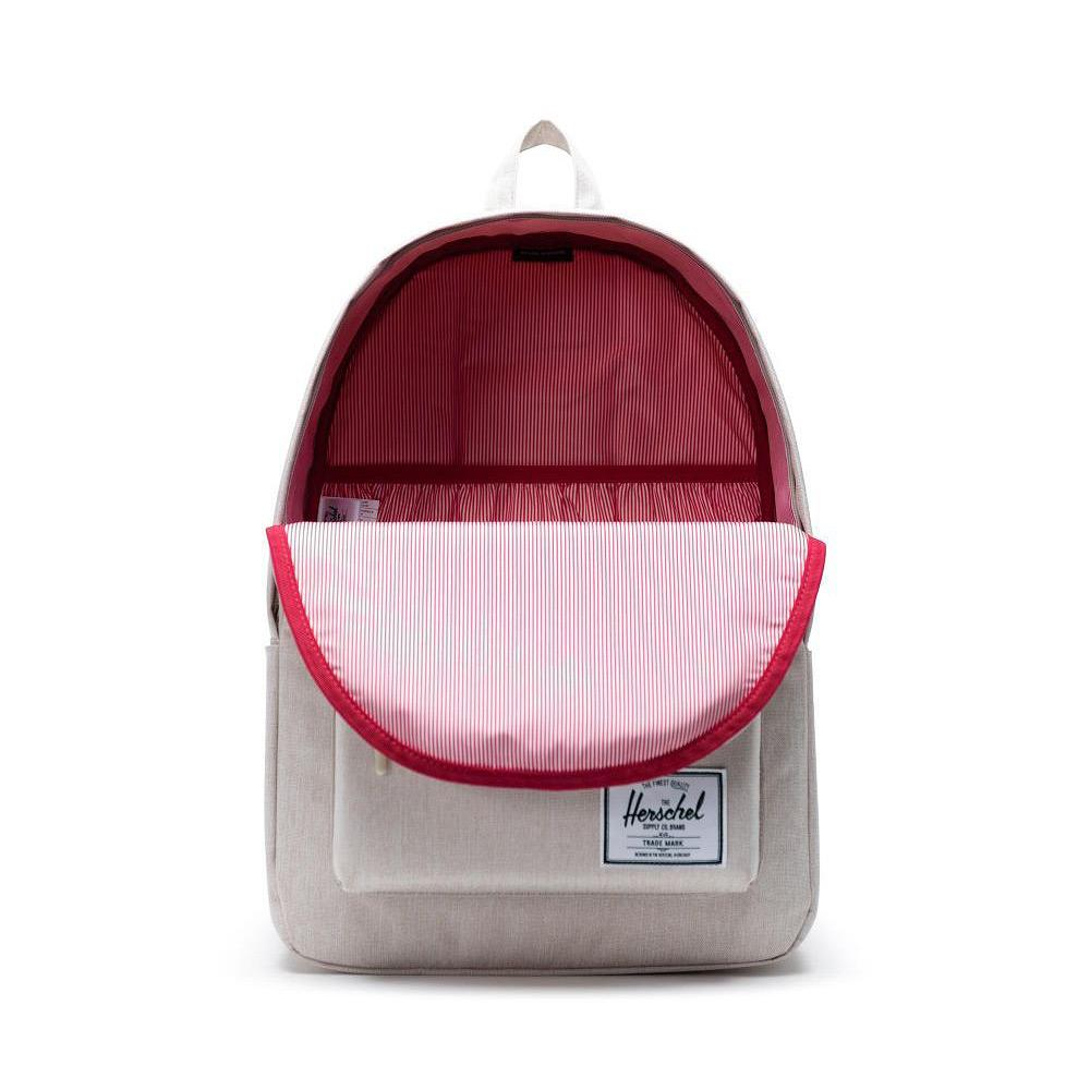Herschel Classic Backpack XL Overcast Crosshatch Front Open